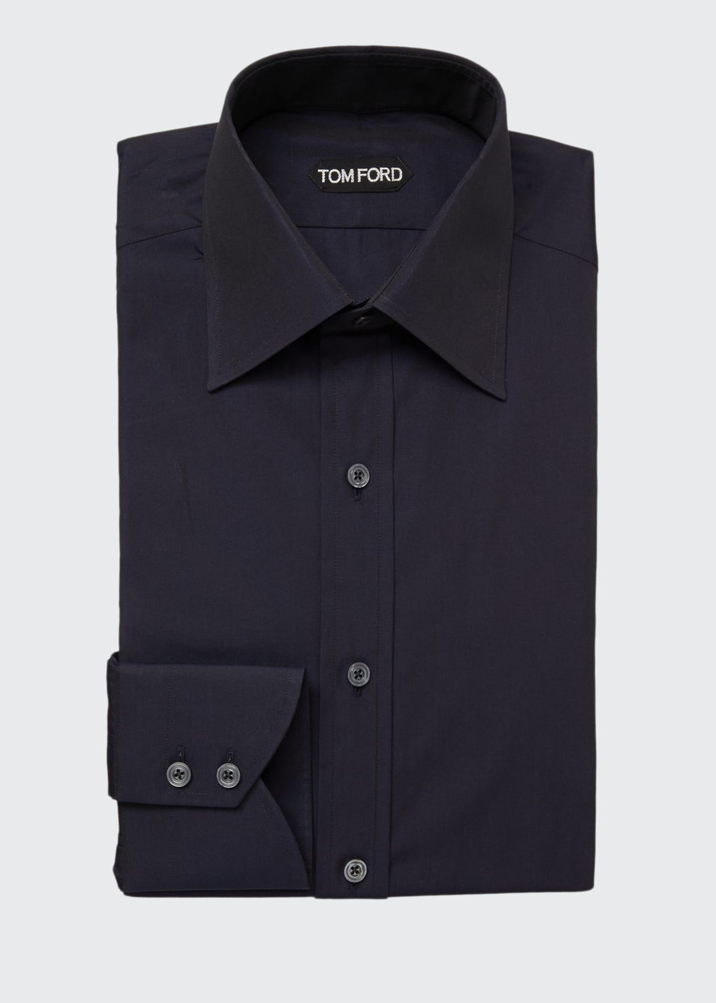 Image 1 of 2: Men's Classic-Collar Poplin Dress Shirt