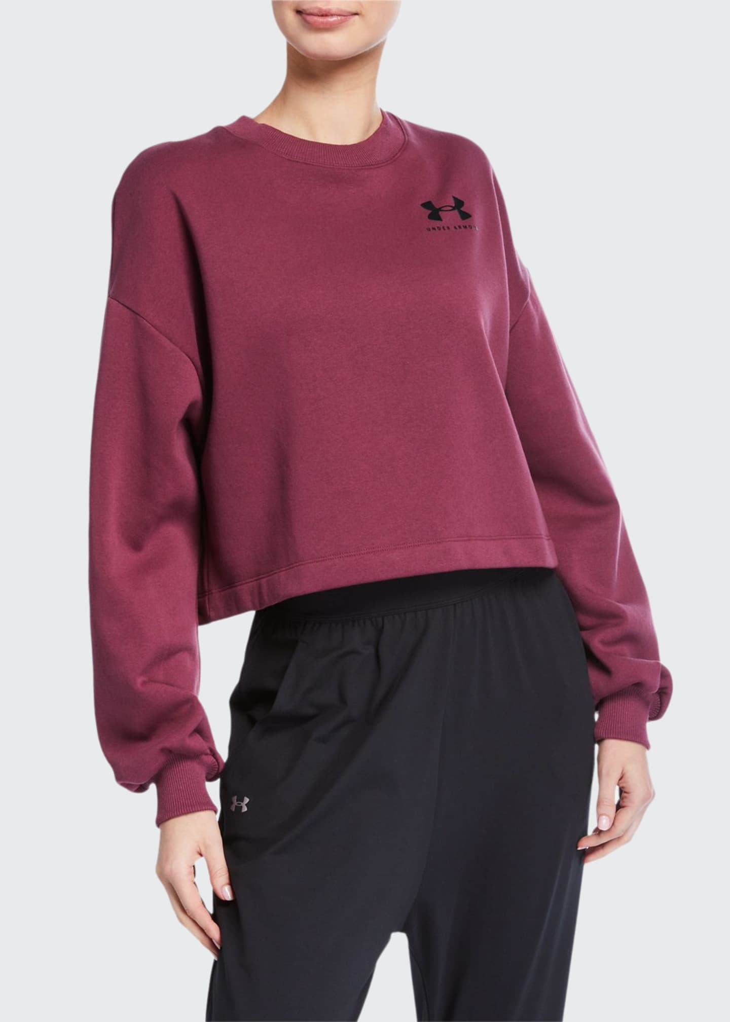 Under Armour Rival Fleece Graphic LC Crewneck Sweatshirt,