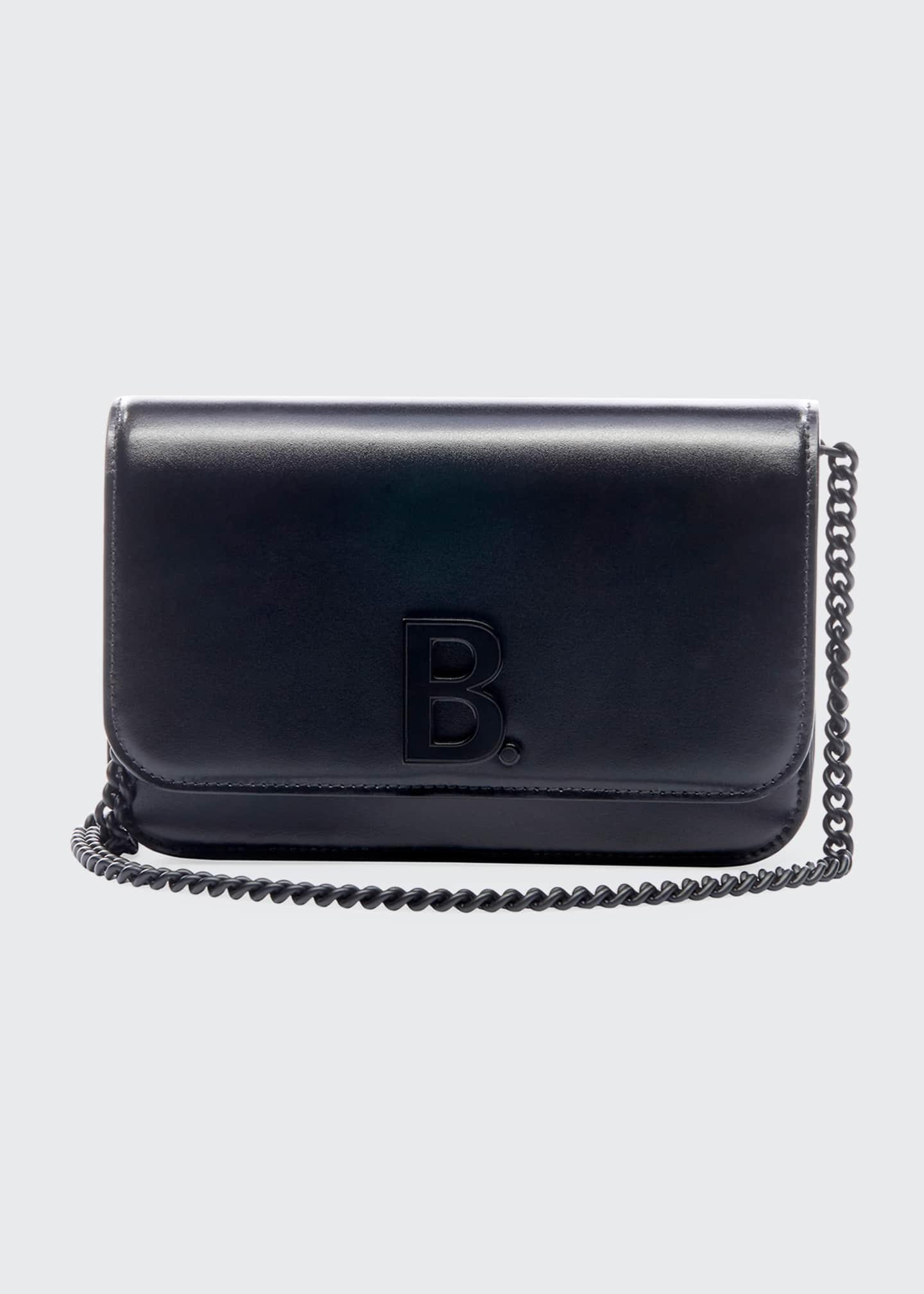 Balenciaga B Continent Chain Shiny Box Wallet