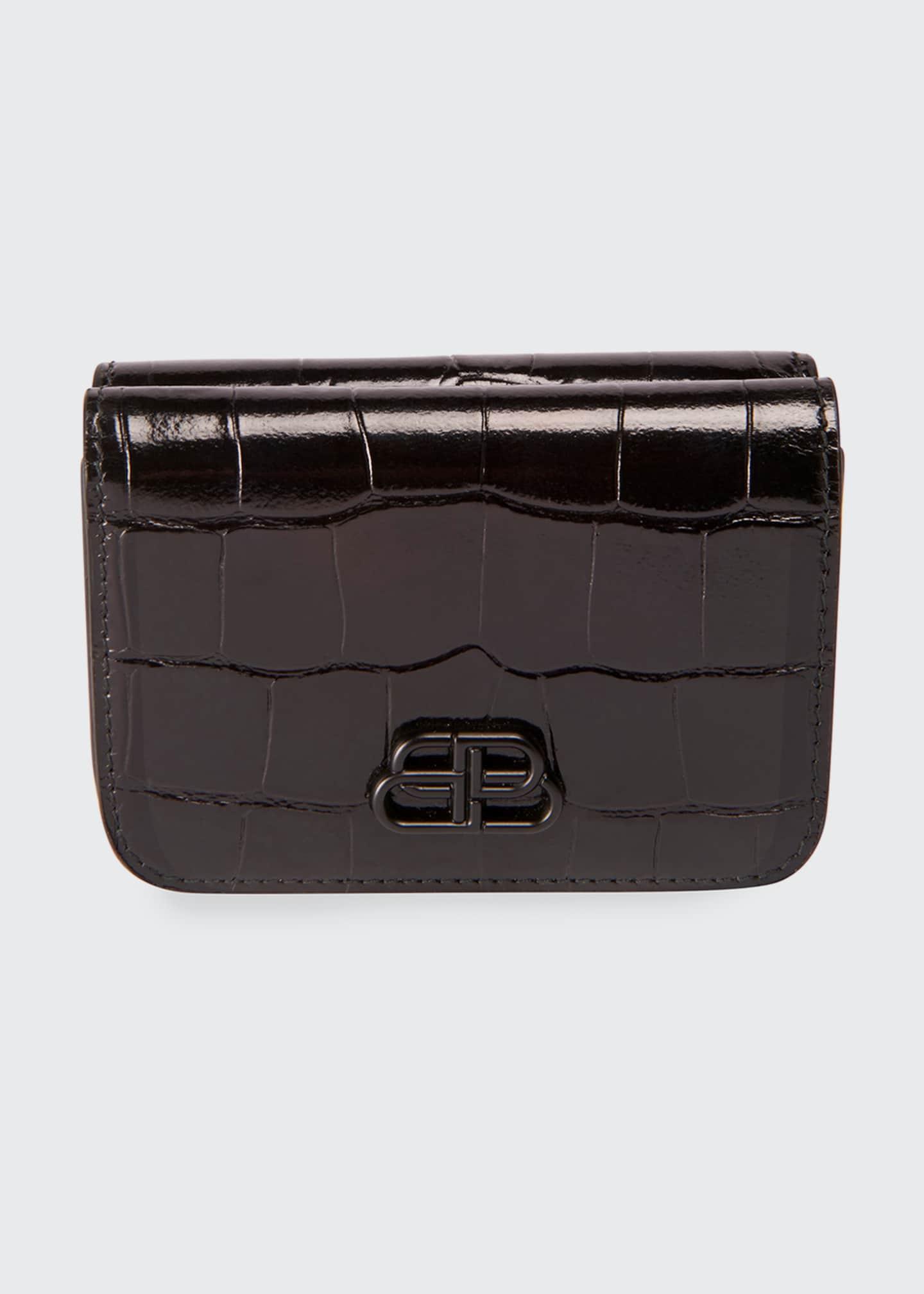 Balenciaga Cash Mini Shiny Embossed Wallet