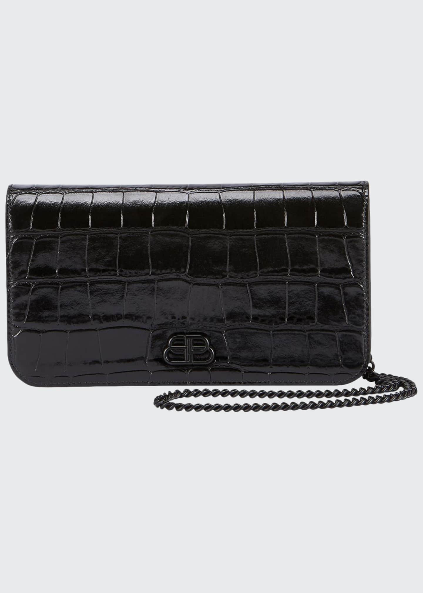 Balenciaga Cash Phone Shiny Wallet on Chain