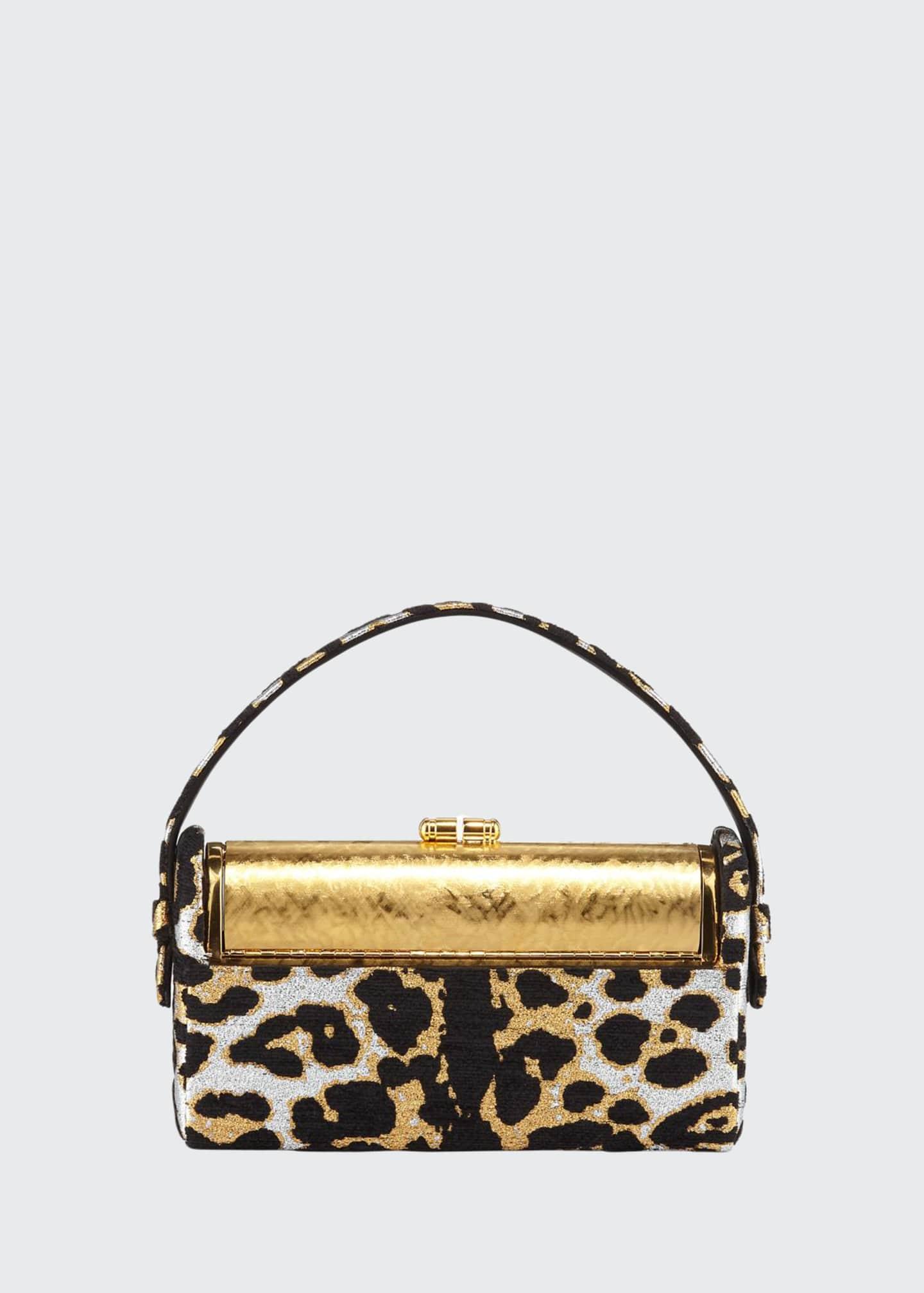 Bienen Davis Regine Leopard Chenille Minaudiere