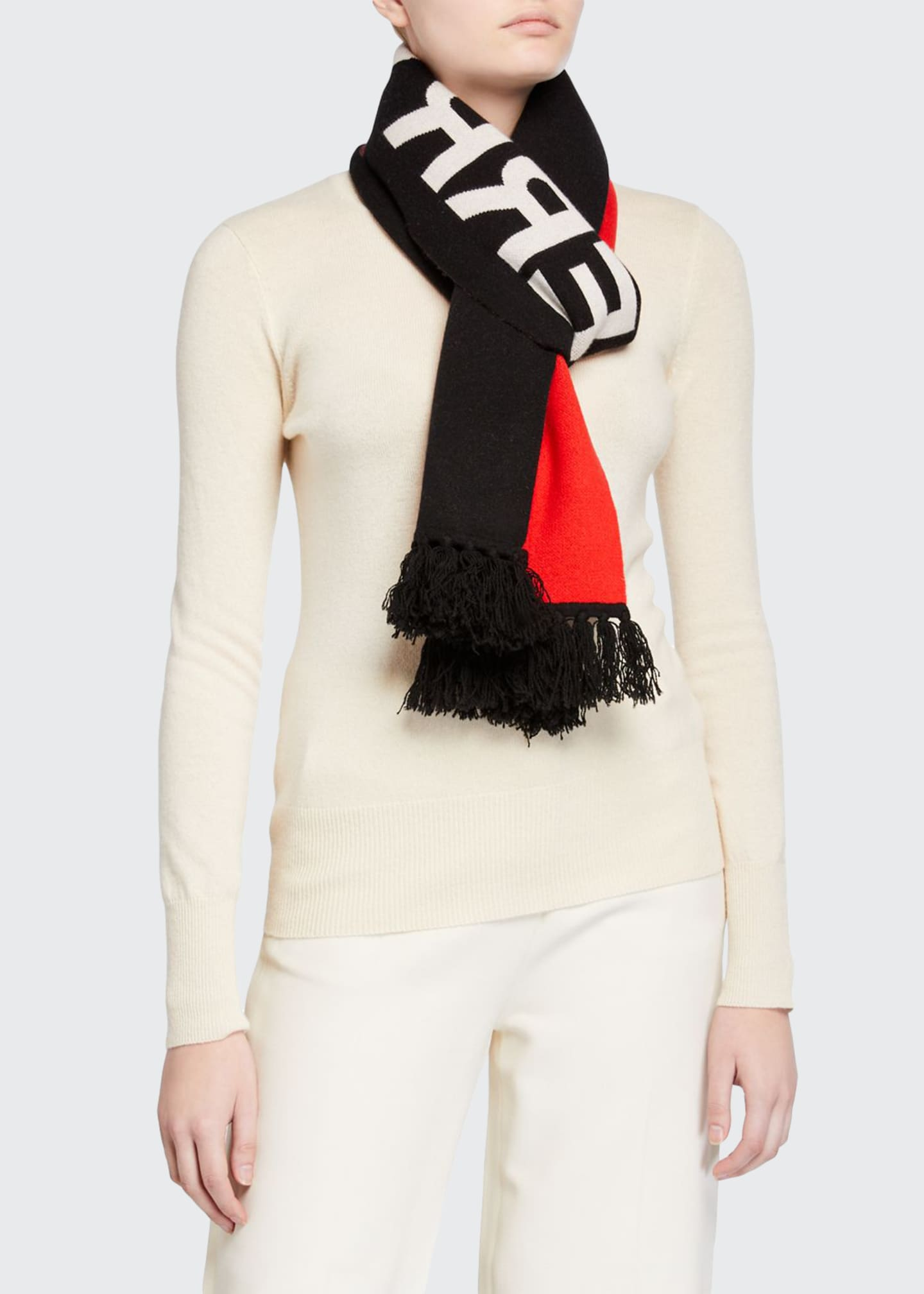 Burberry Colorblock Logo Football Scarf