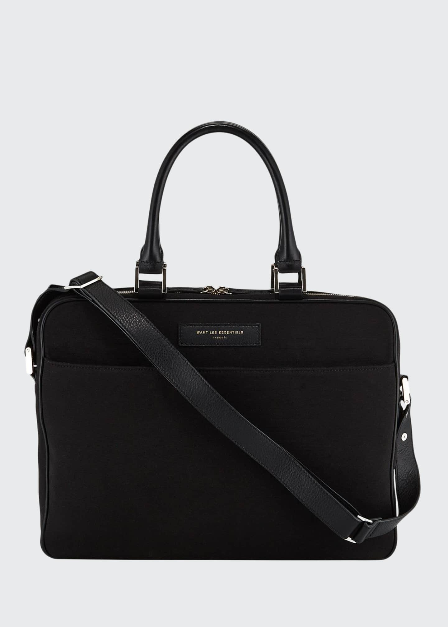 Men's Haneda Slim Canvas Briefcase Bag