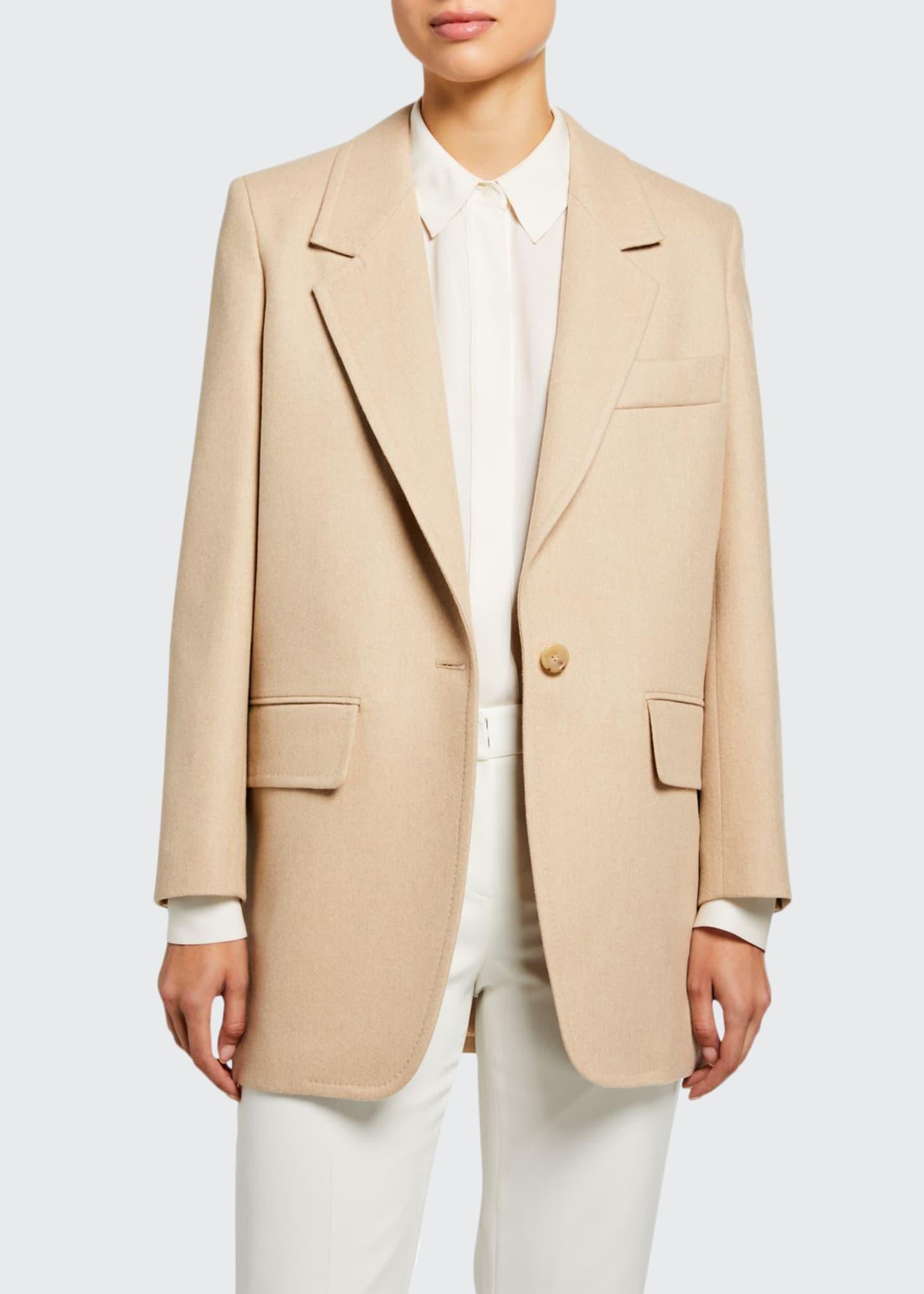 Maxmara Edipo Camel Wool-Cashmere Jacket