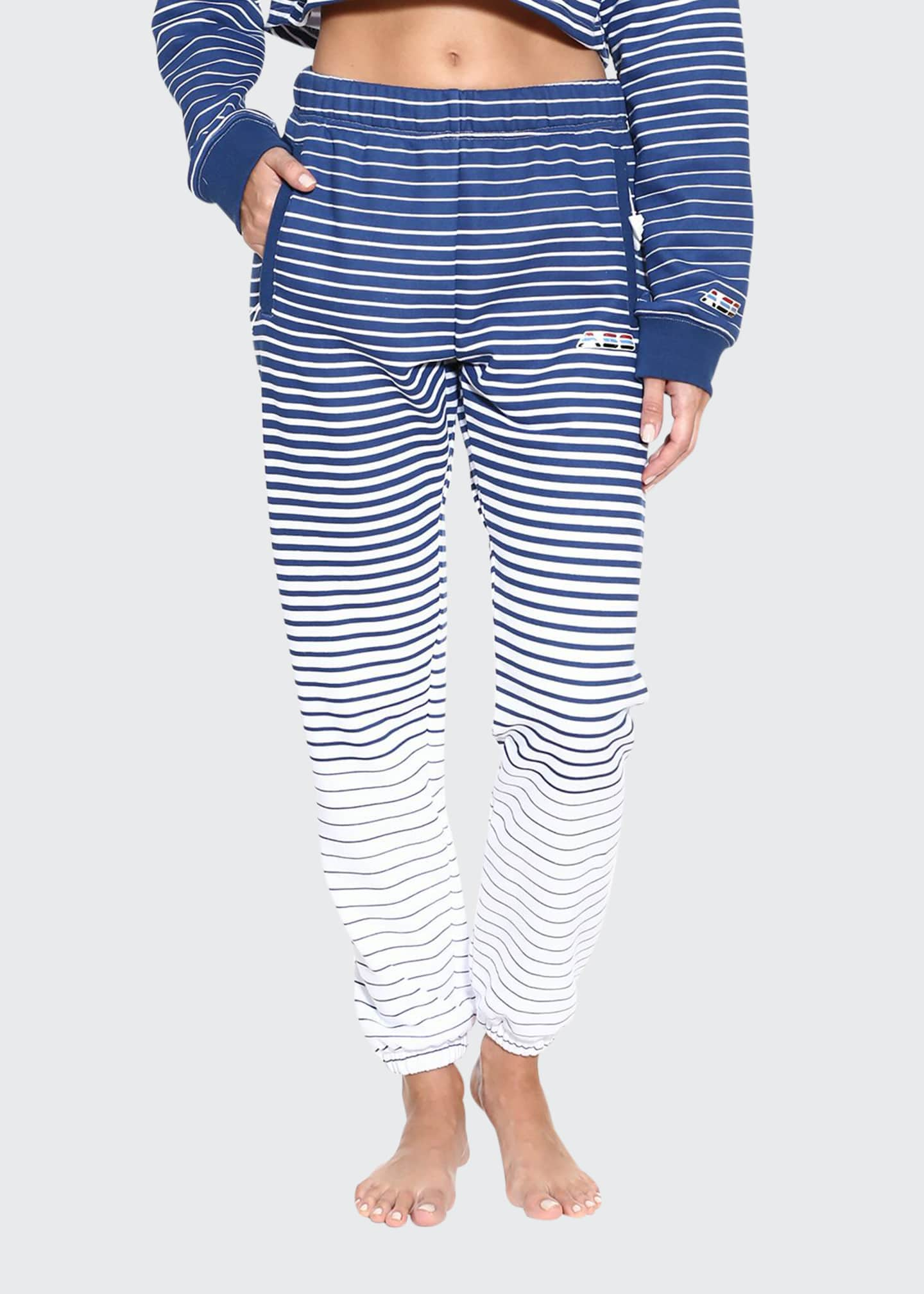 Adam Selman Sport Striped Unisex Logo Sweatpants