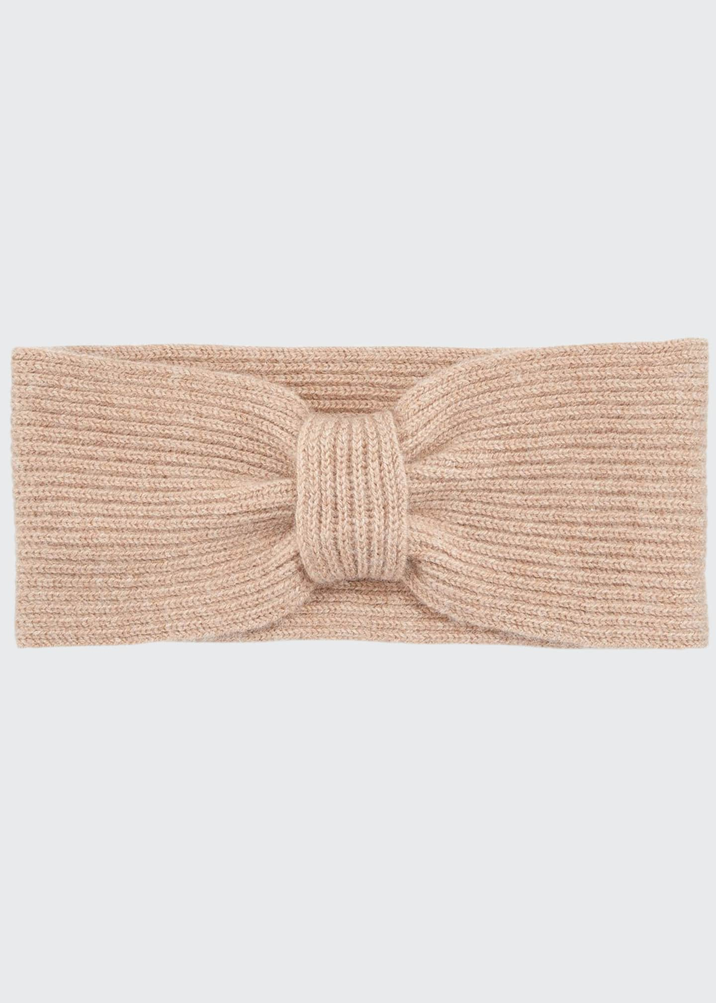 Image 1 of 1: Rib Knit Cashmere Headband