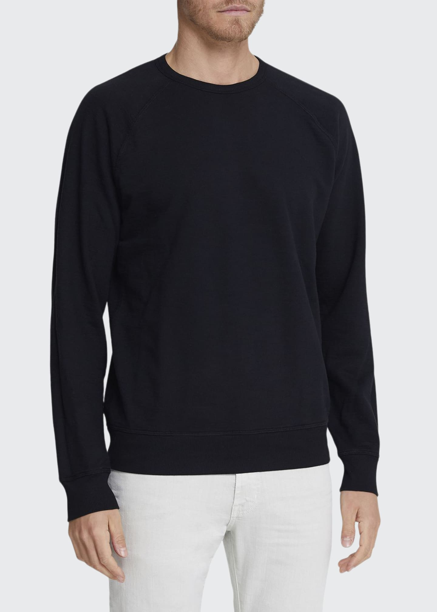 Image 1 of 2: Men's Siris Solid Cotton Crewneck Sweatshirt
