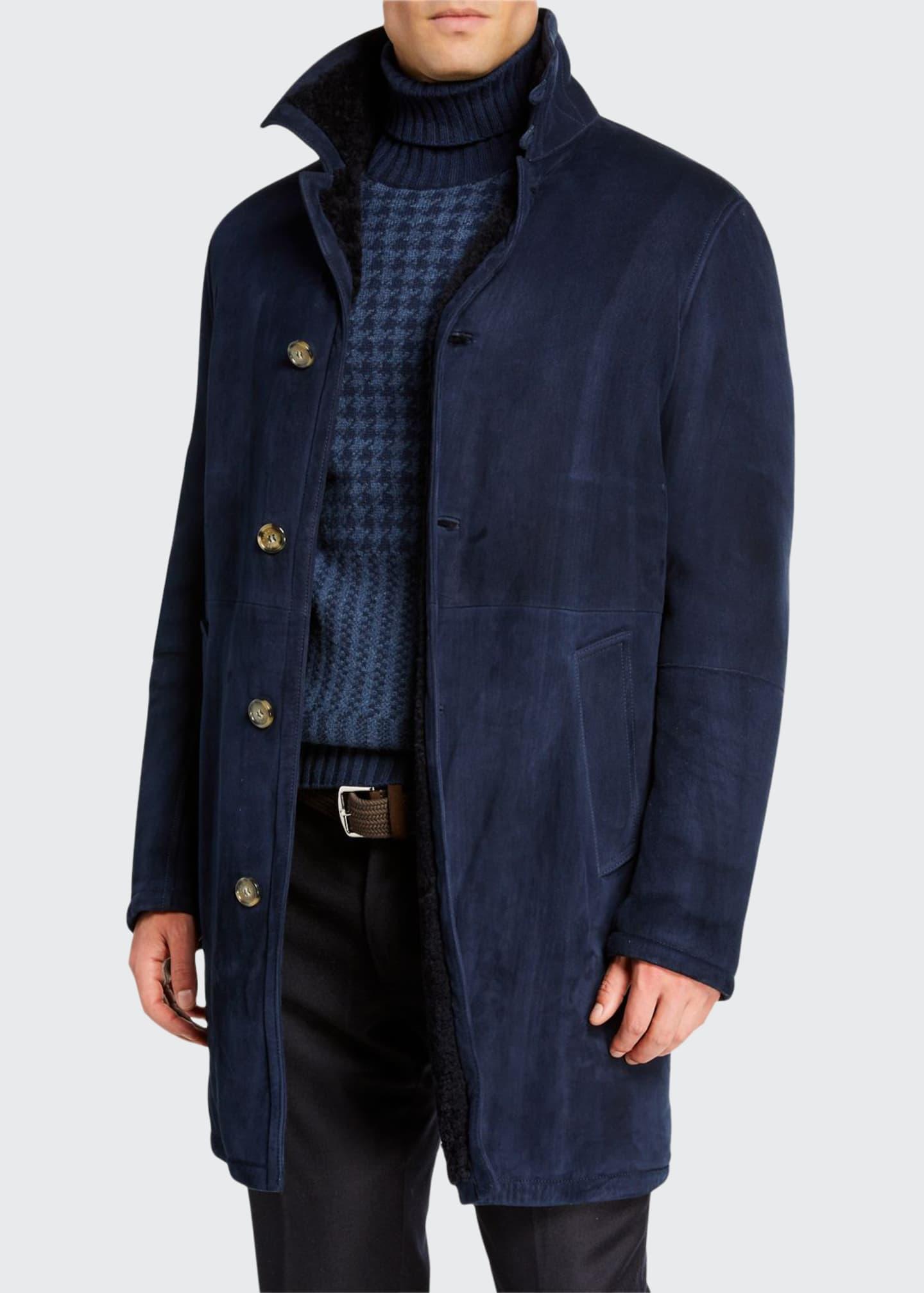 Loro Piana Men's Maremma Shearling-Lined Coat