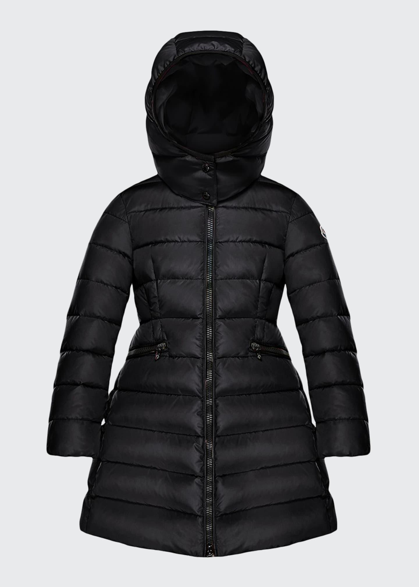 Moncler Charpal Detachable-Hood Puffer Coat, Size 4-6