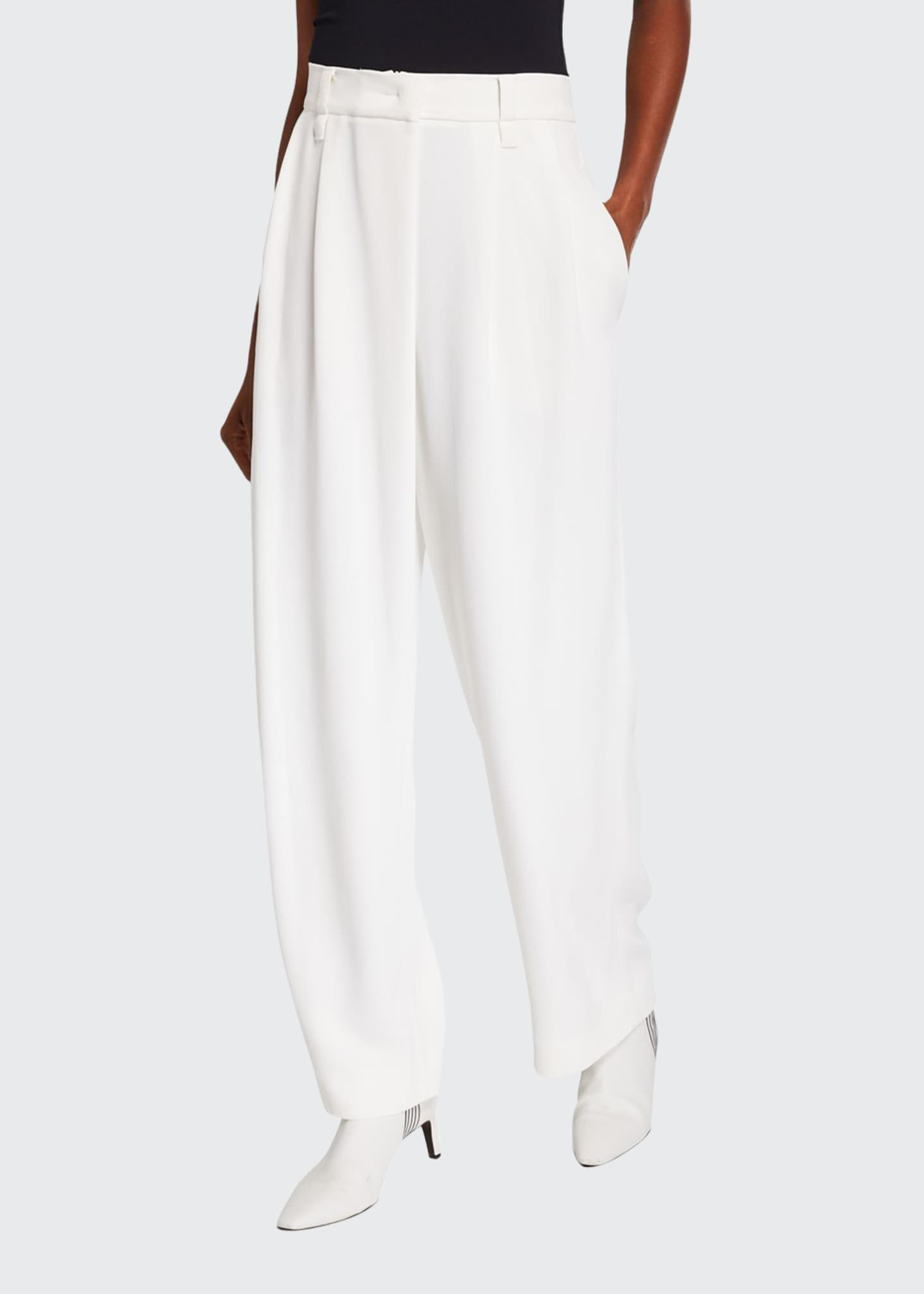 Image 1 of 3: Pleated Crepe Cady Pants