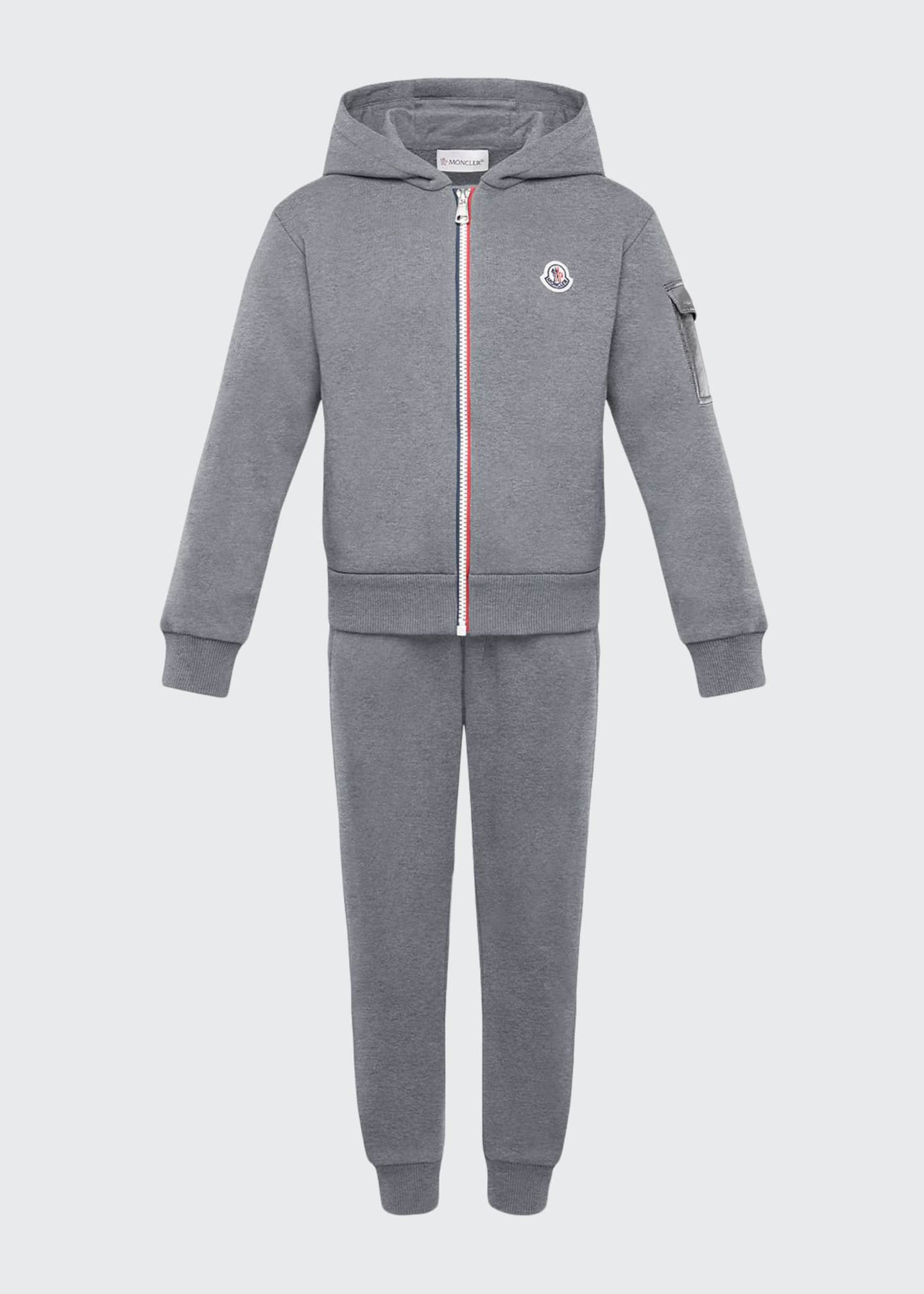 Image 1 of 2: Tricolor-Zip Hoodie w/ Matching Sweatpants, Size 8-14