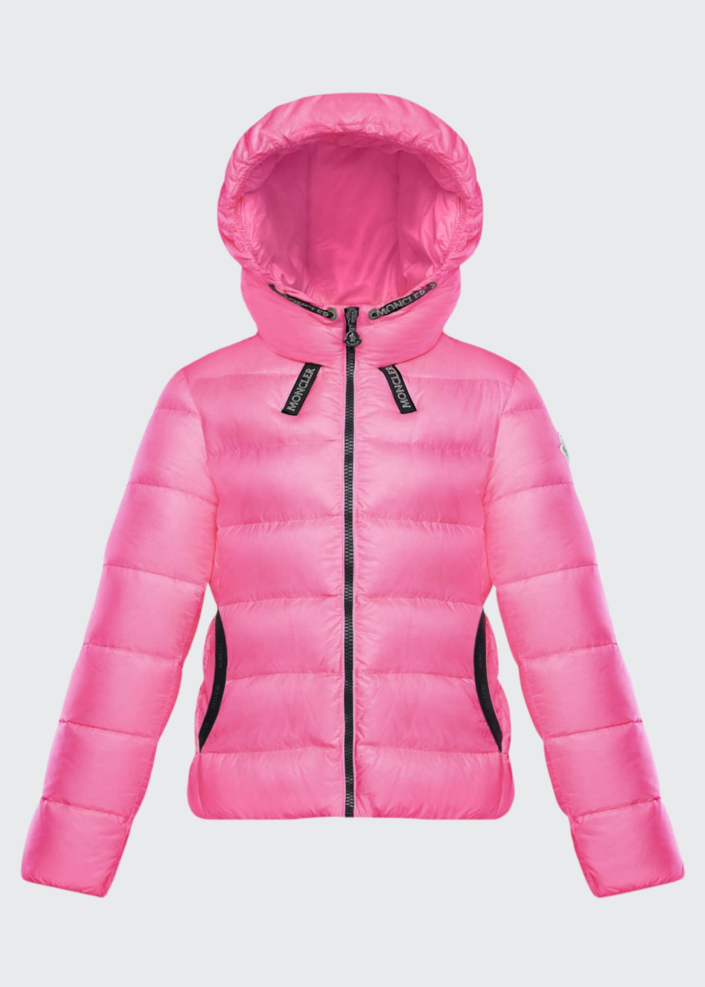 Moncler Chevril Hooded Puffer Coat, Size 8-14