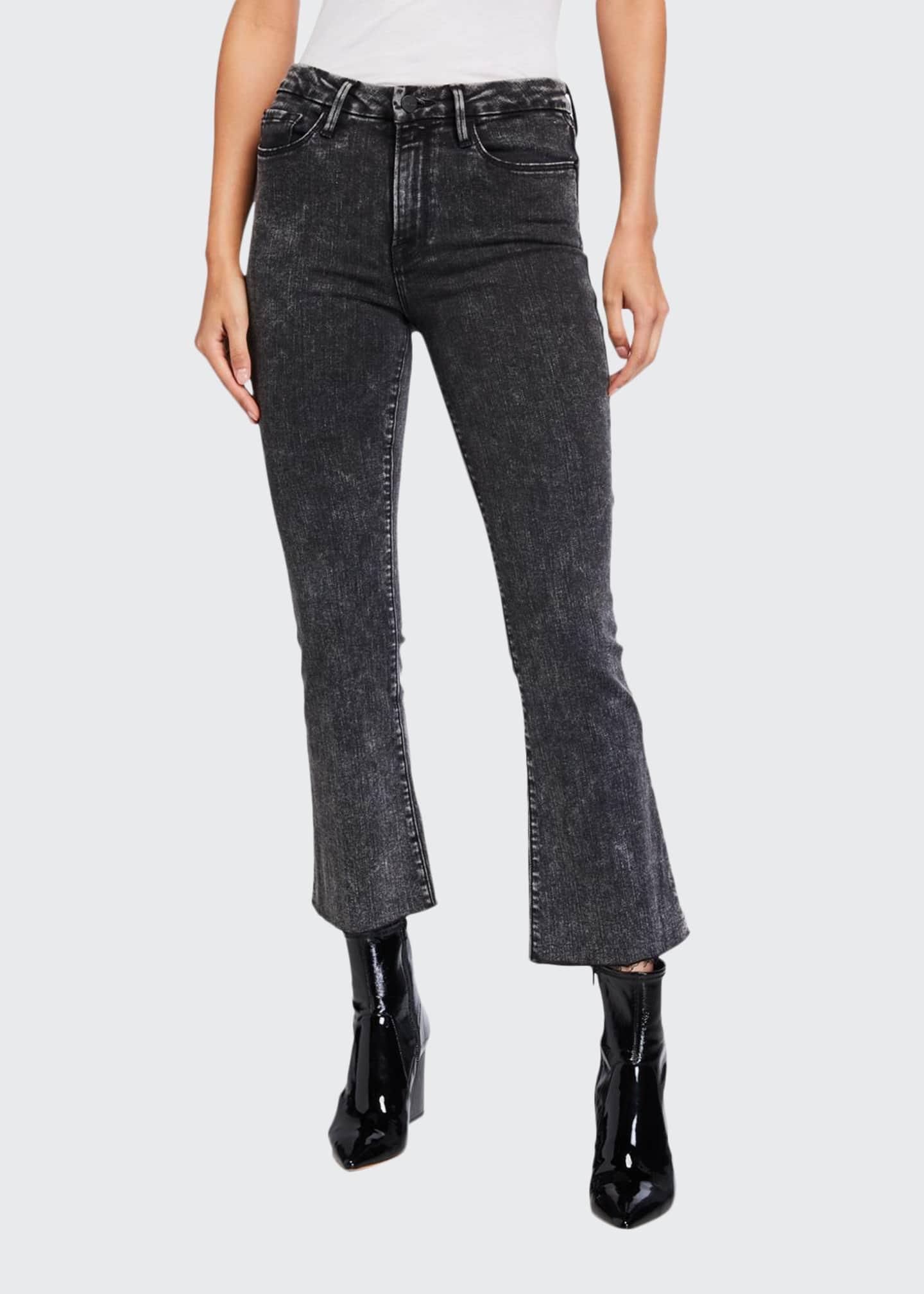 FRAME Le Crop Mini Boot-Cut Acid Wash Jeans