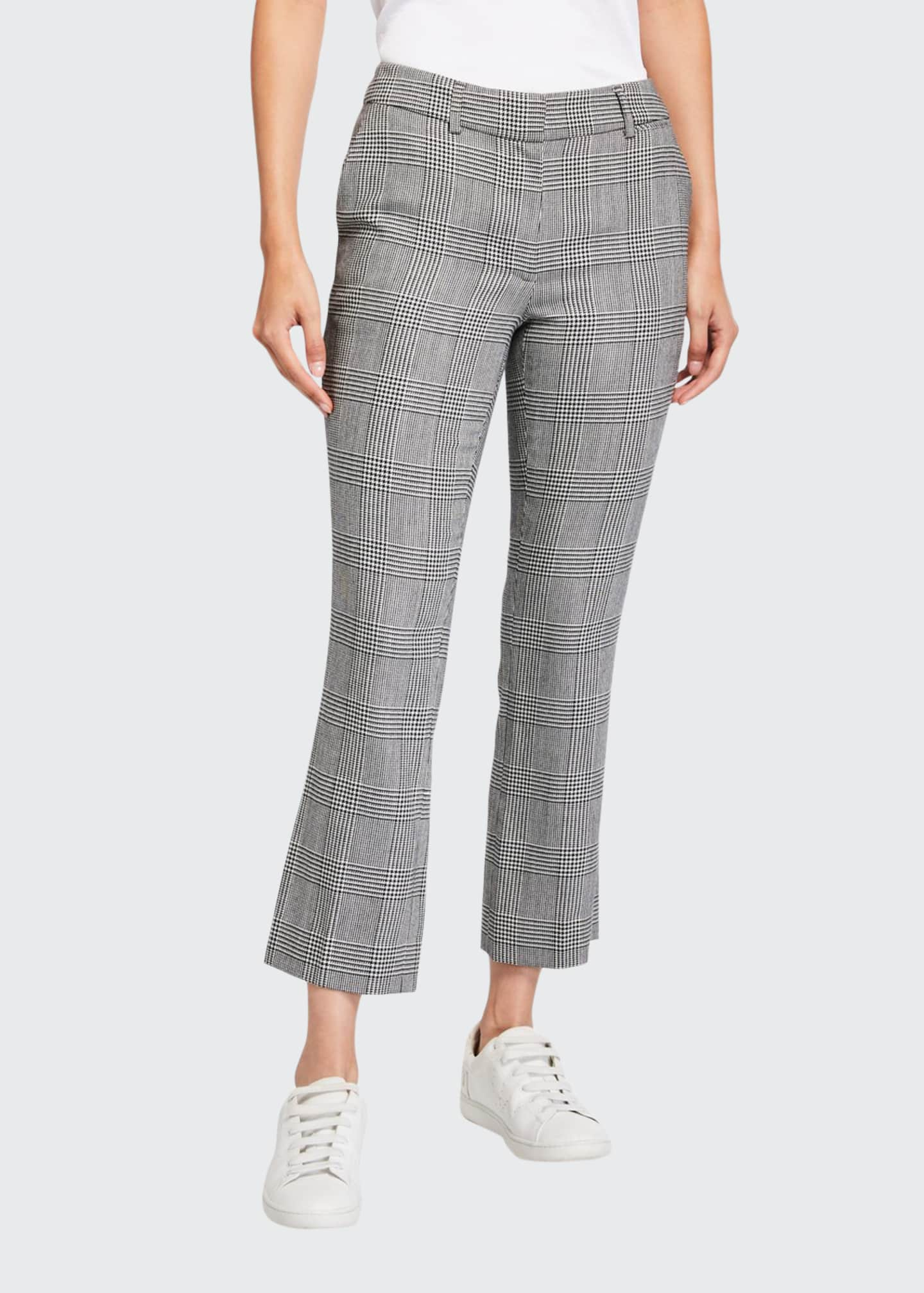 FRAME Plaid Cropped Perfect Trousers