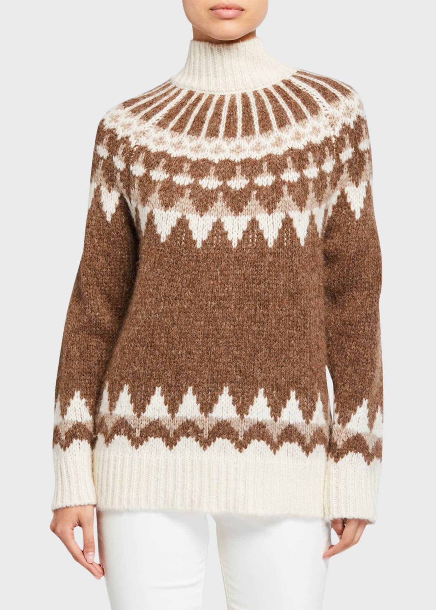 FRAME Fair Isle Turtleneck Sweater
