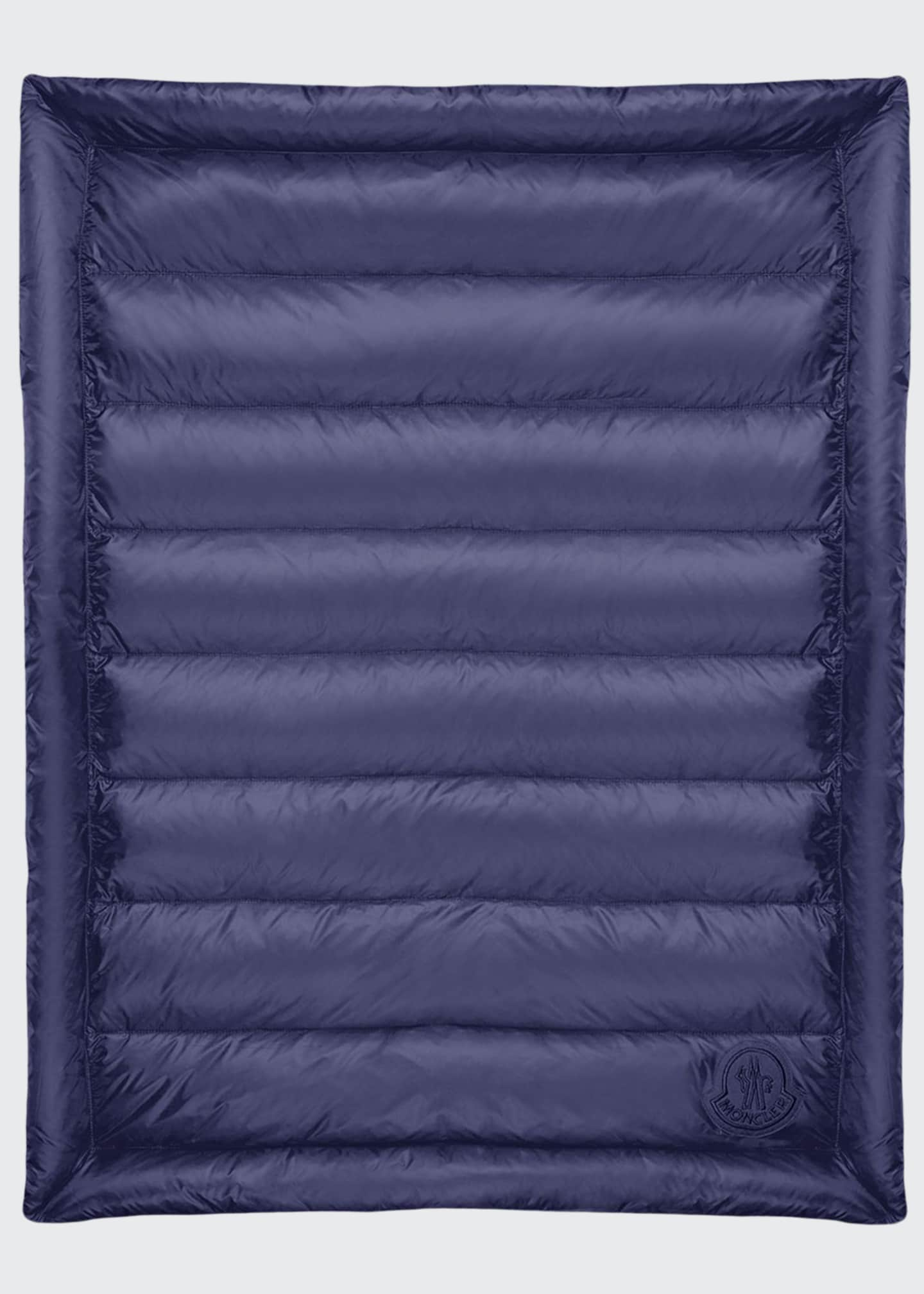 Moncler Quilted Down Baby Blanket