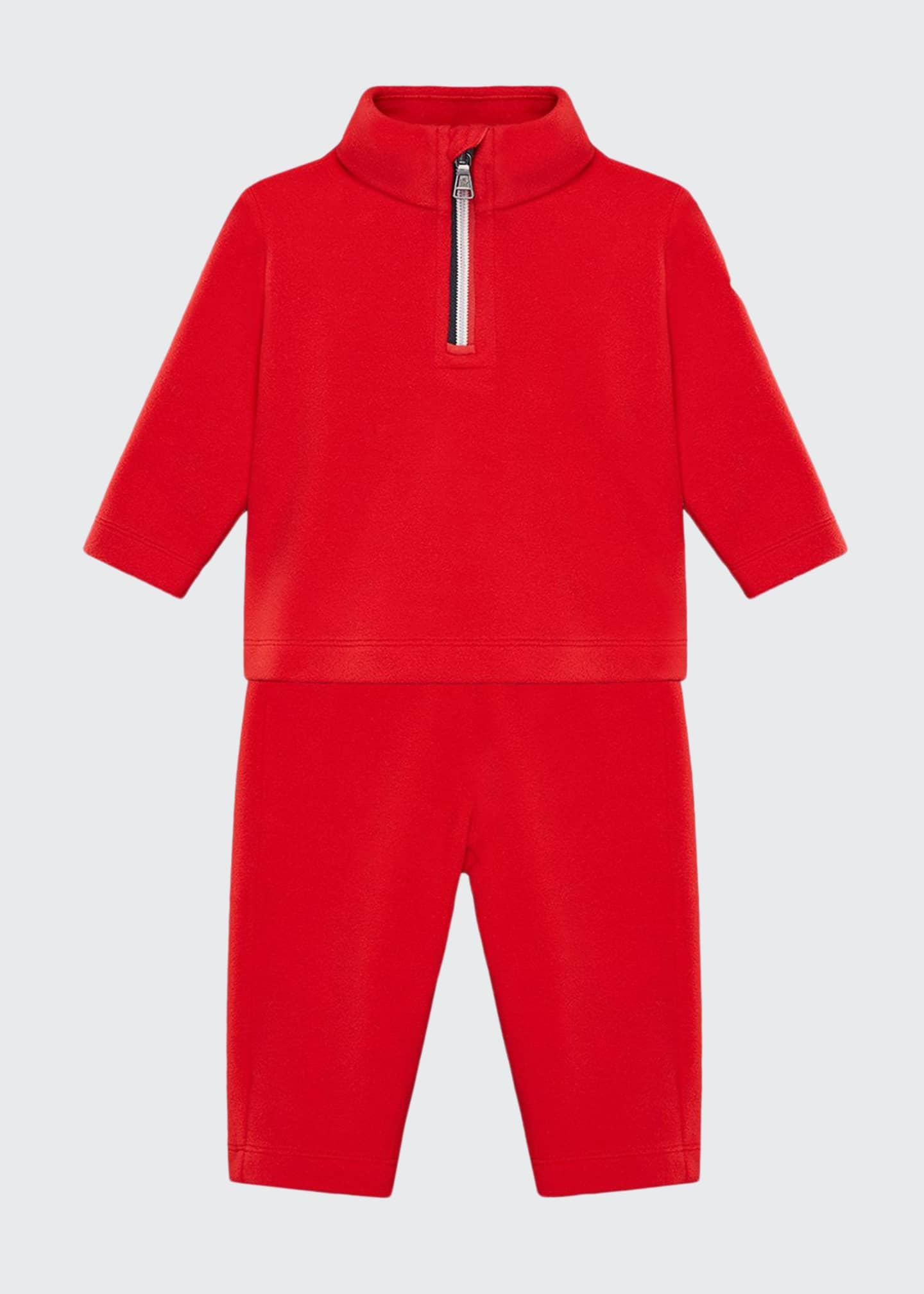 Moncler Half-Zip Jacket w/ Matching Sweatpants, Size 6M-3