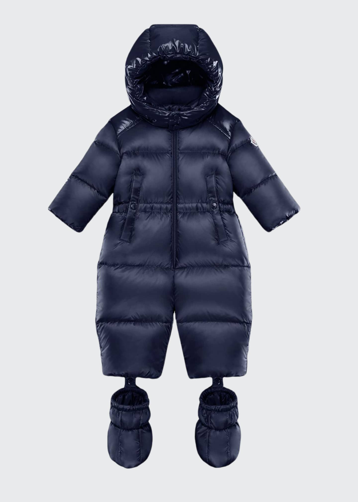 Moncler Pervance Hooded Puffer Snowsuit w/ Removable Booties,