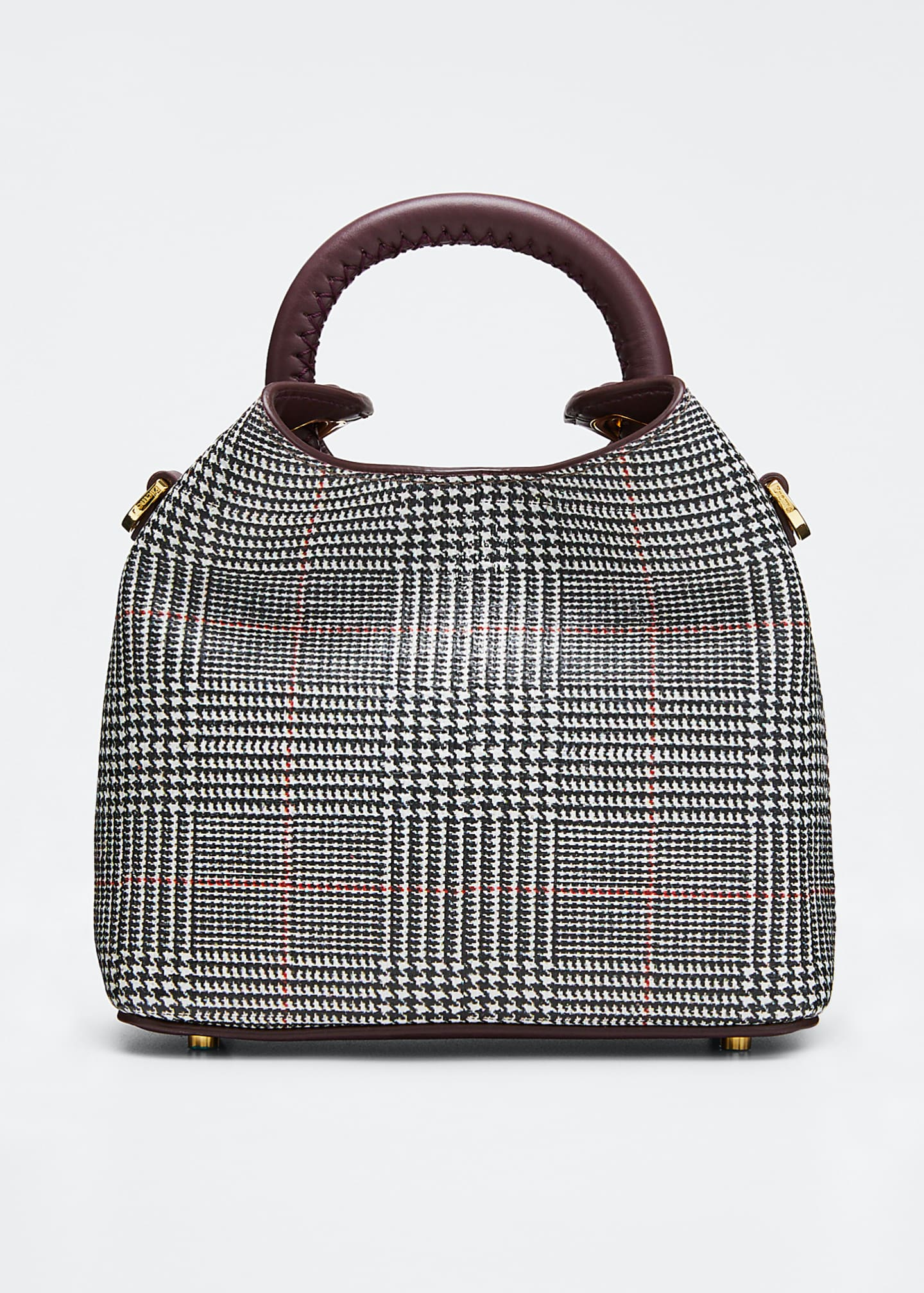 Elleme Medeleine Houndstooth Bucket Bag