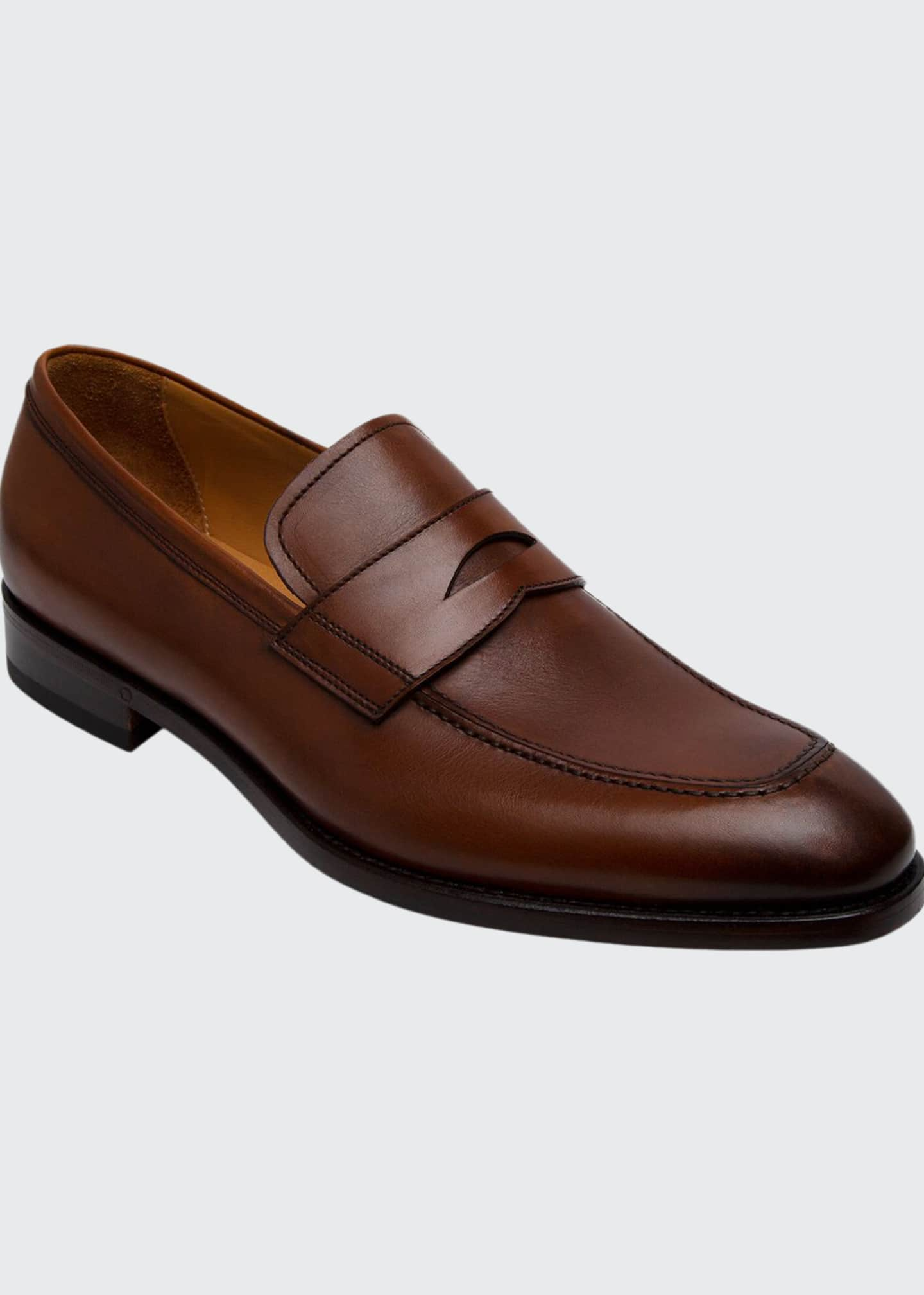 Image 1 of 2: Men's Lane Leather Penny Loafers