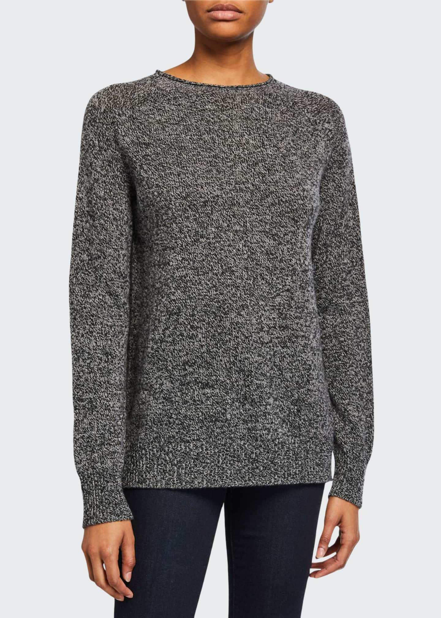 Image 1 of 2: Elena Seamless Cashmere Pullover Sweater