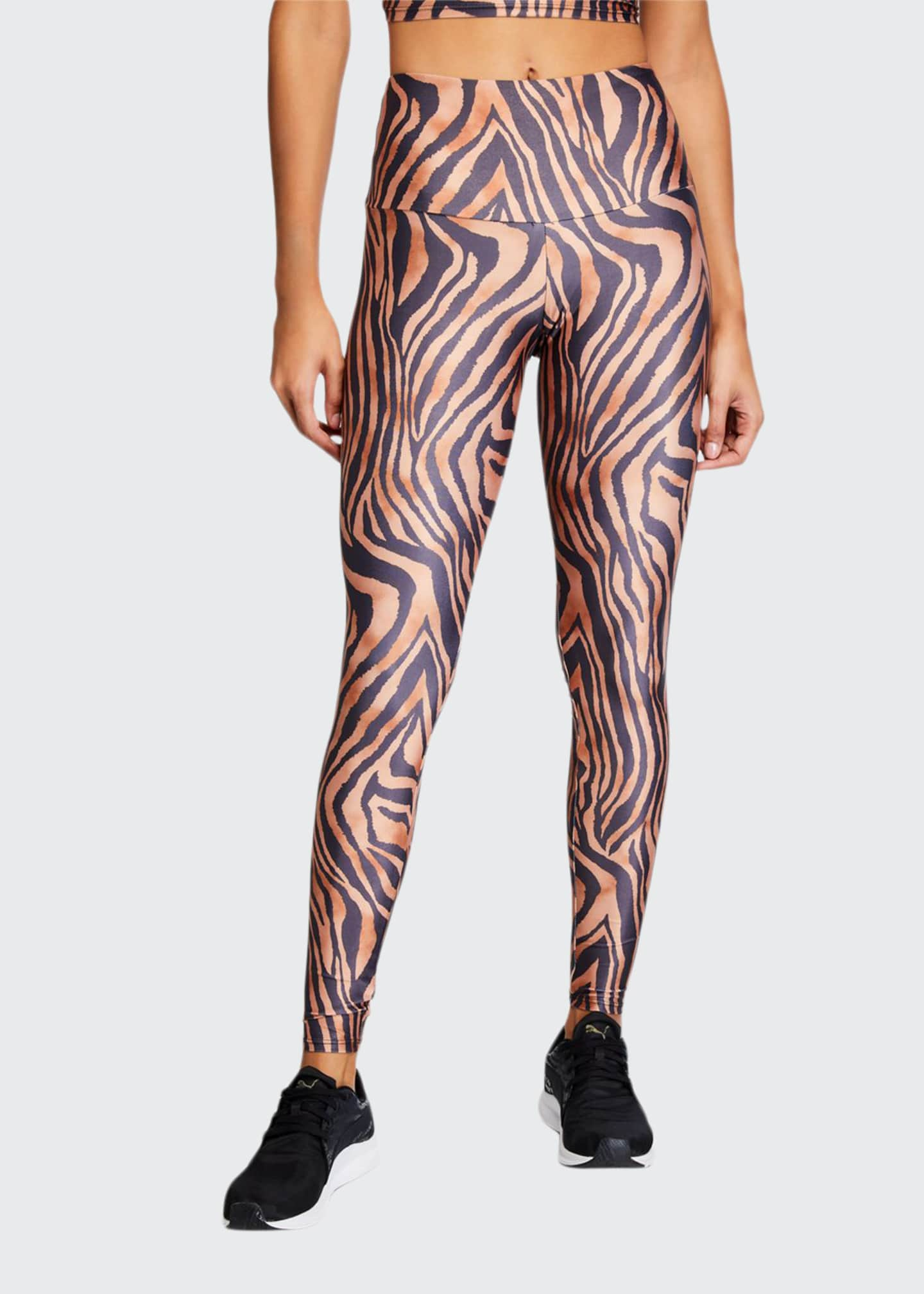 Onzie High-Rise Leggings, Tiger