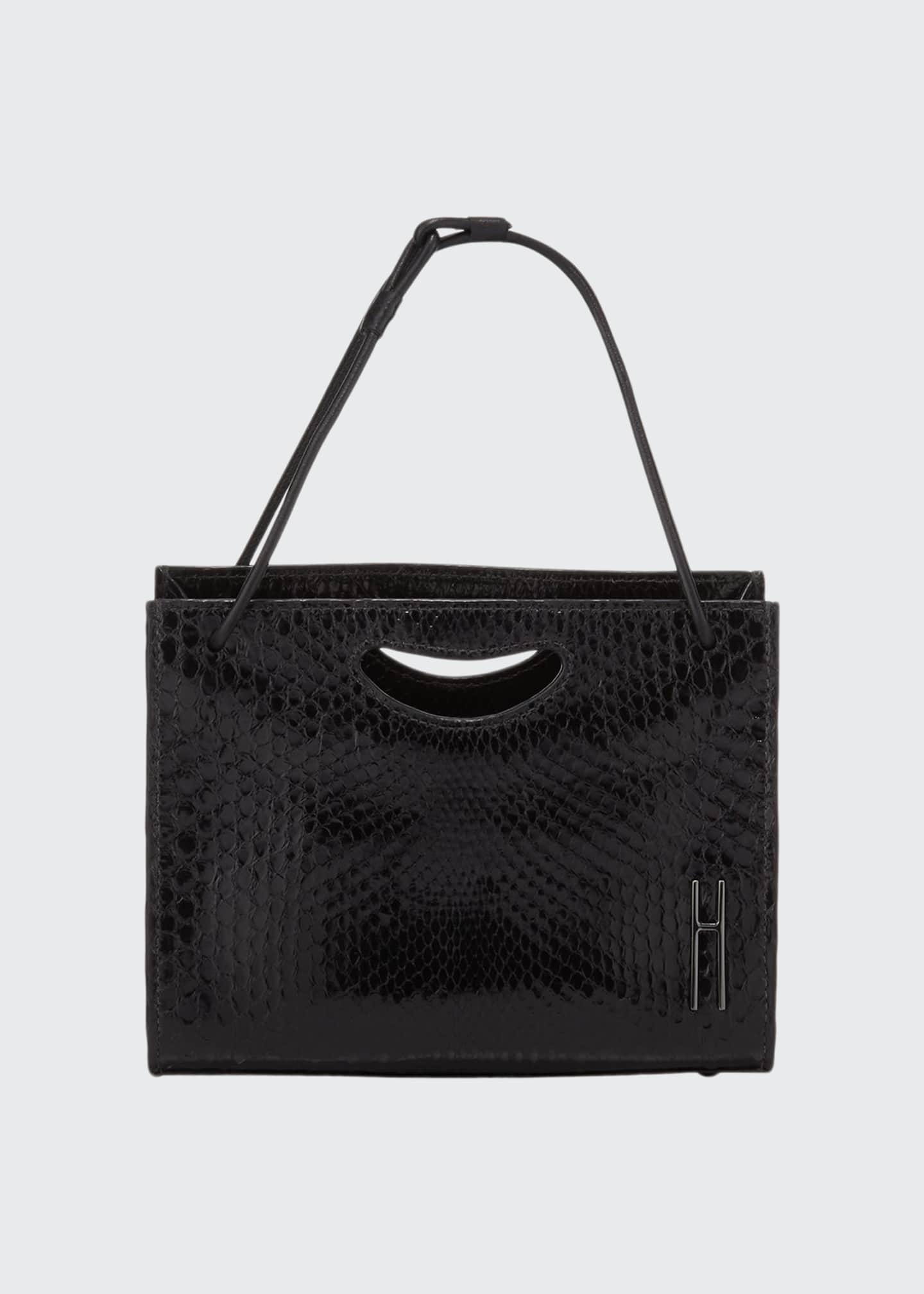 Image 1 of 1: Mini 1712 Python Basket Tote Bag