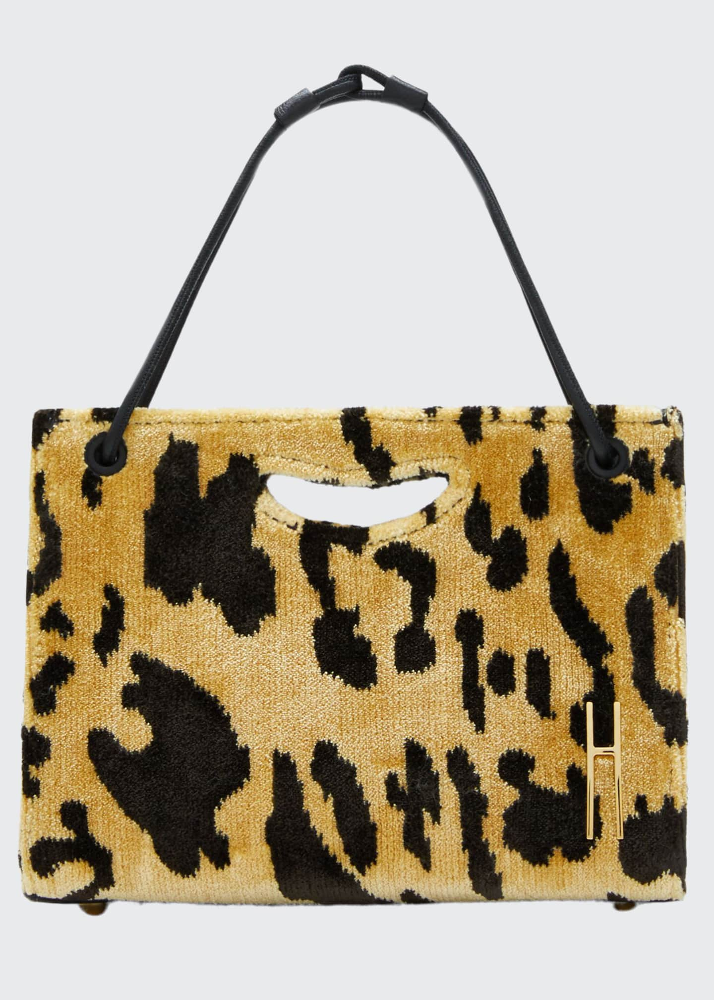 Hayward 1712 Mini Leopard Basket Tote Bag