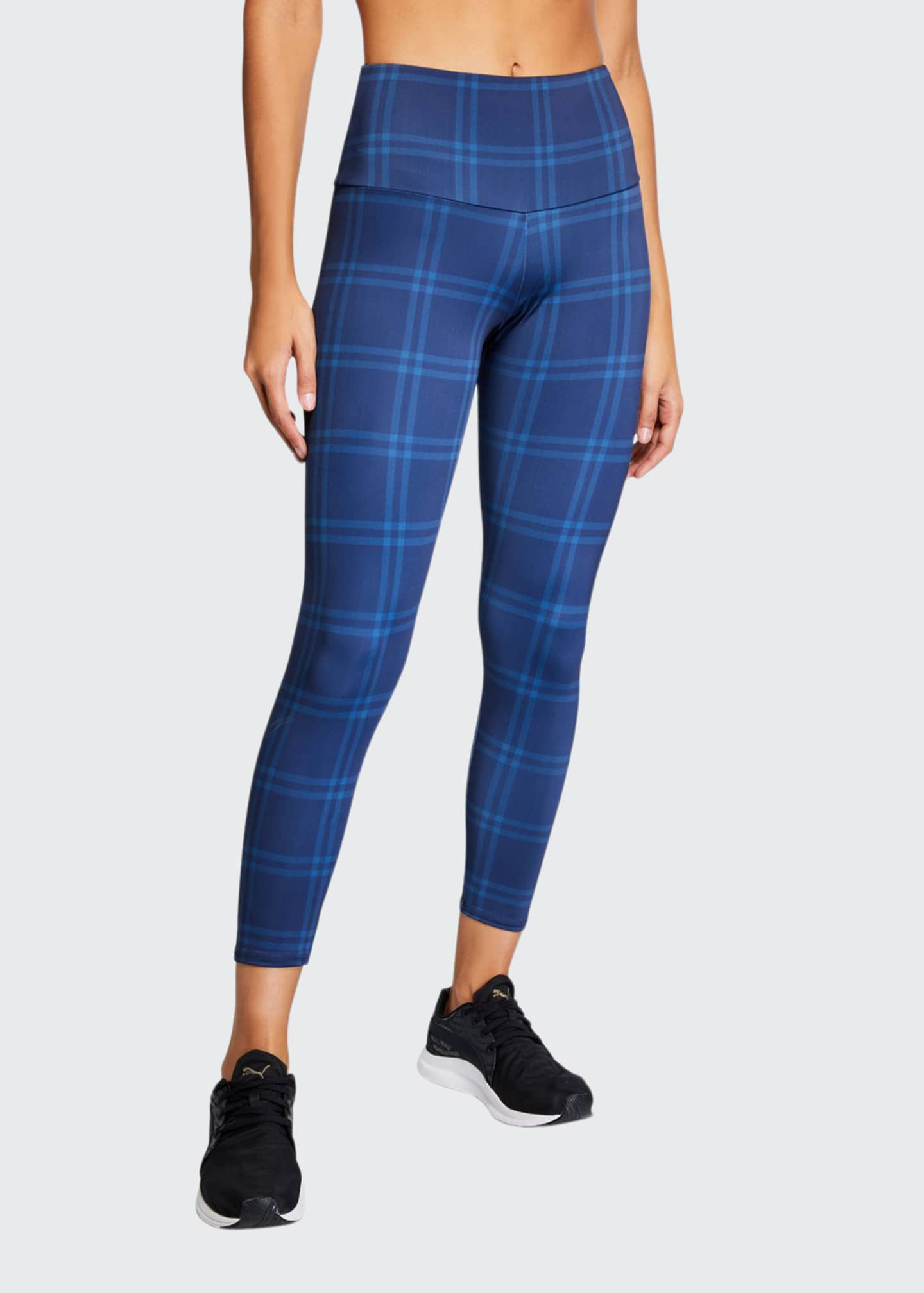 Onzie High-Rise Basic Plaid Midi Leggings