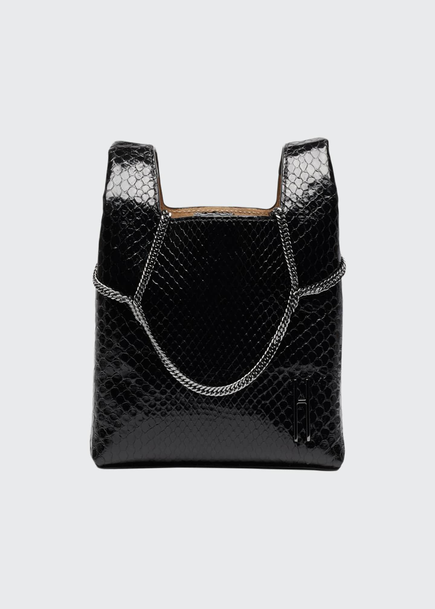 Hayward Mini Chain Python Tote Bag