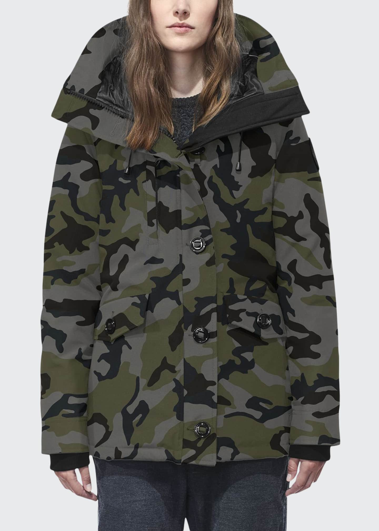 Rideau Hooded Camo Parka Coat