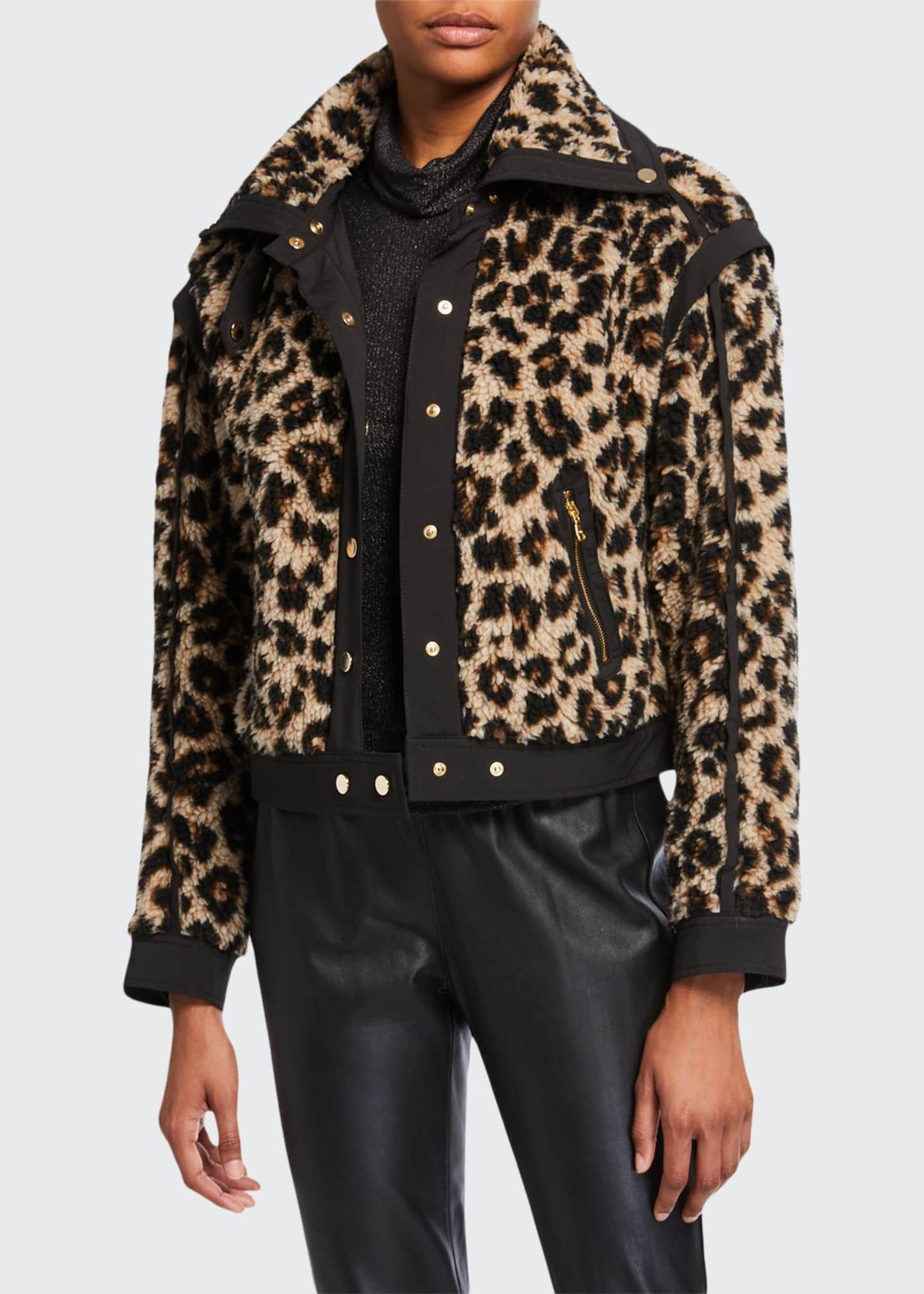 Veronica Beard Anita Faux-Fur Snap-Front Jacket