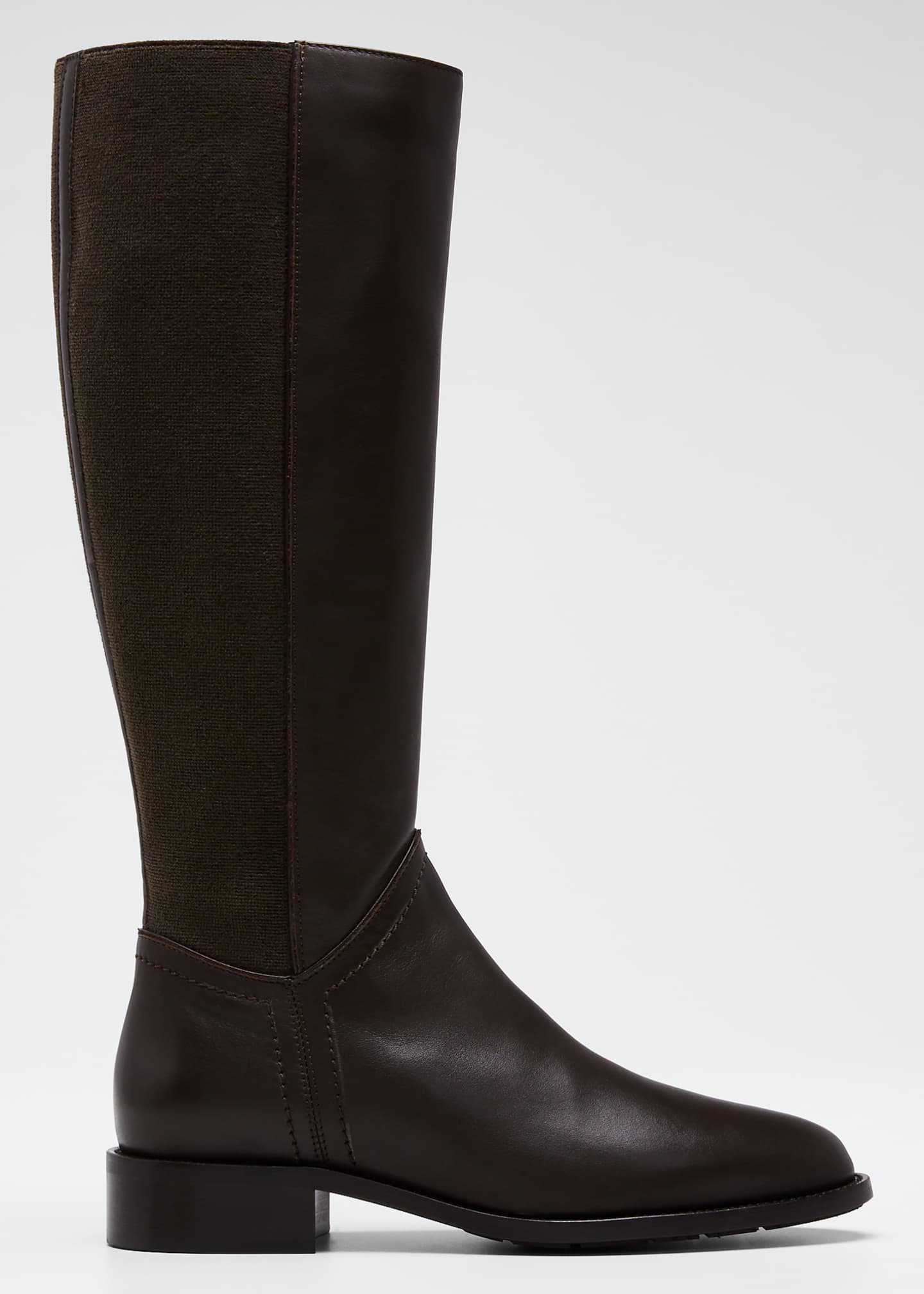 Aquatalia Nia Leather/Cashmere Knee Boots