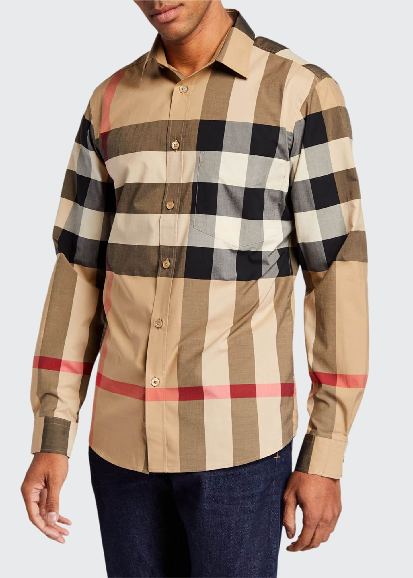 Burberry Men's Somerton Check Sport Shirt