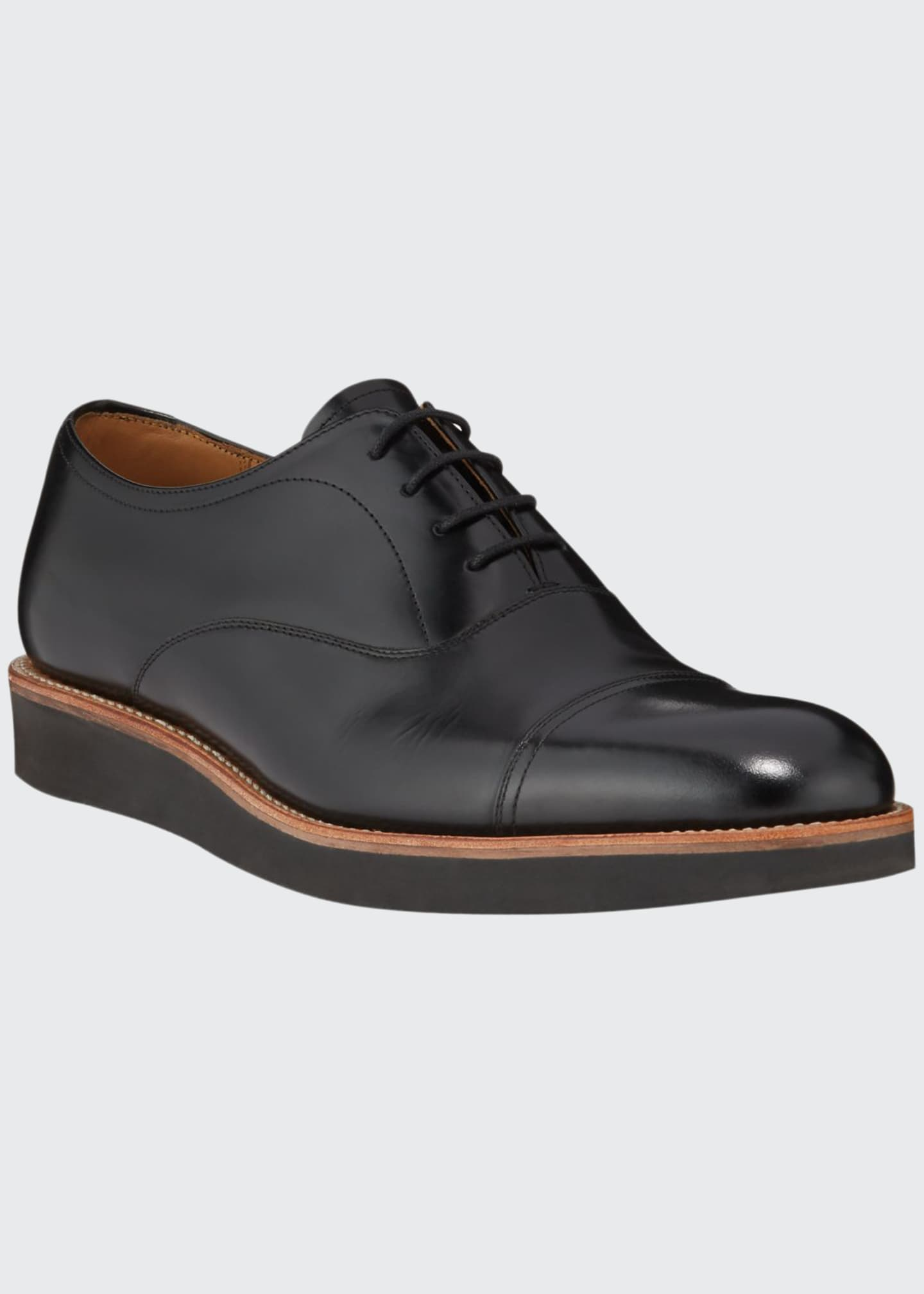Image 1 of 3: Men's Elliot Leather Oxford Shoes