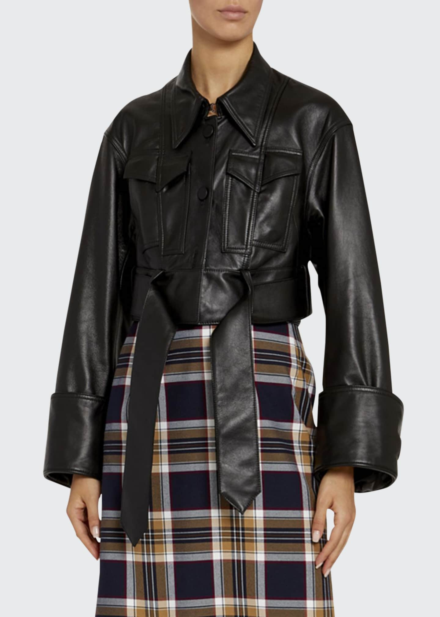Rokh Multi-Check Frilled Drop Skirt