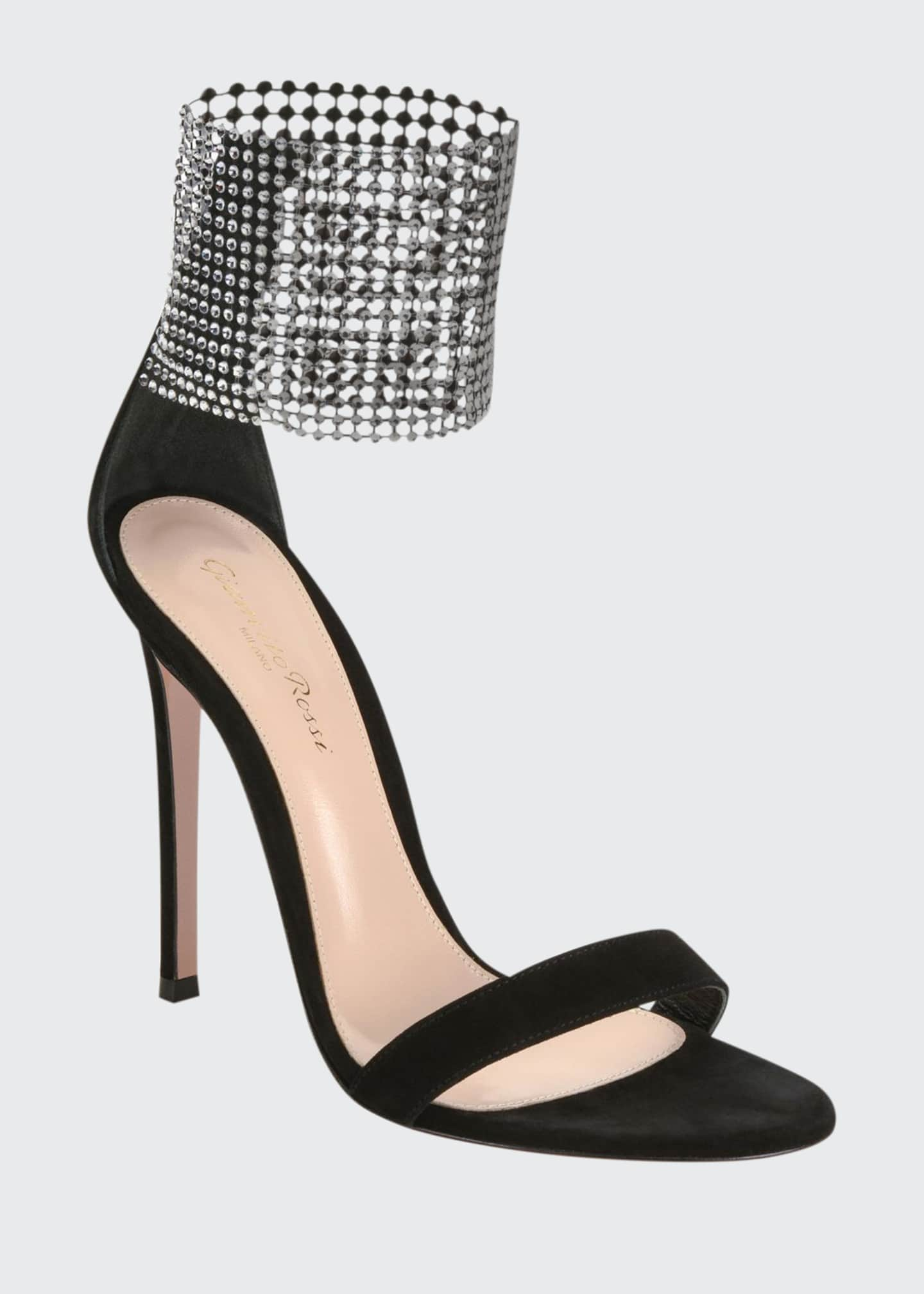 Image 1 of 4: High Sandals with Crystal Cuff