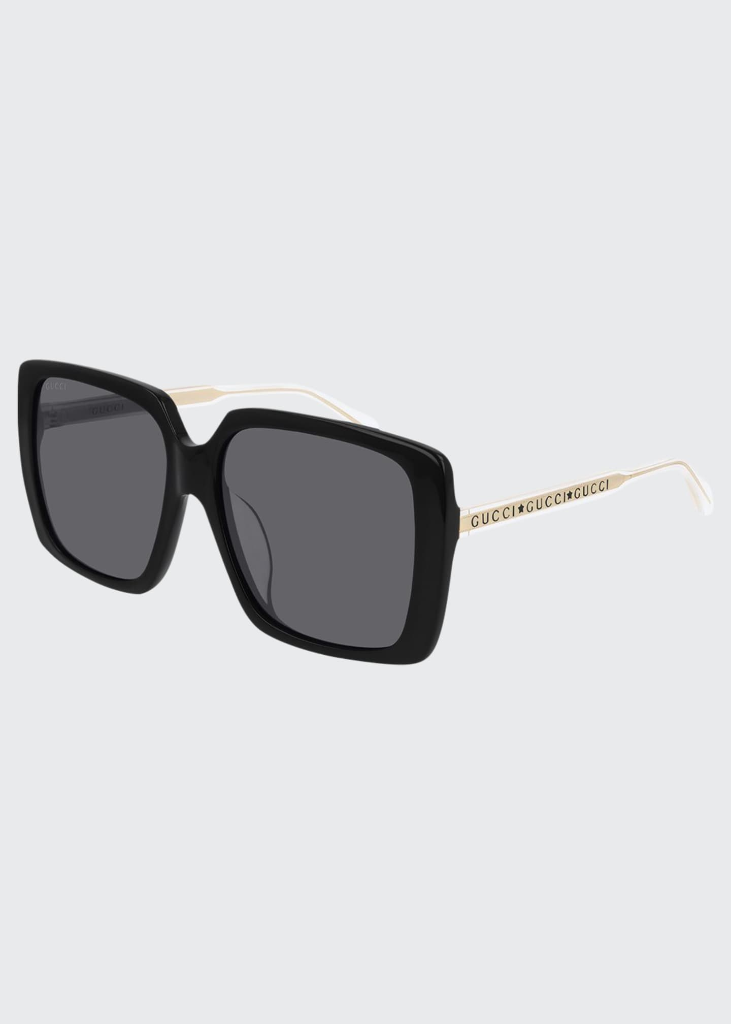 Colorblock Acetate Oversized Square Sunglasses