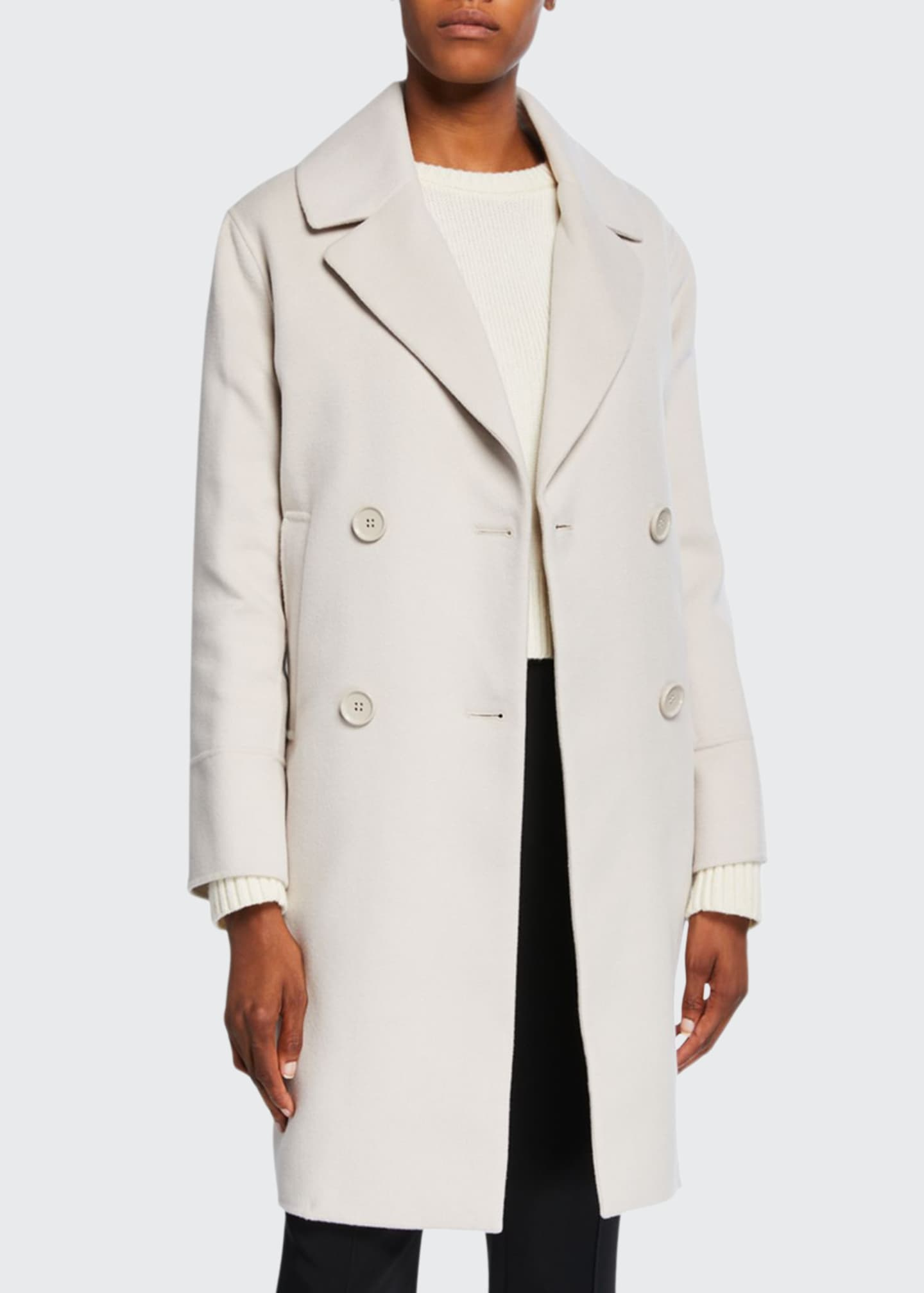 Max Mara The Cube Cabanl Double-Breasted Wool-Blend Coat,