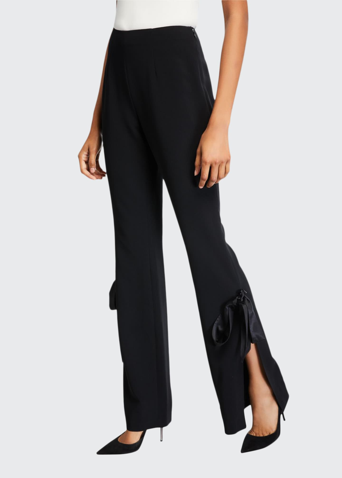 cinq a sept Lou Lou Side-Split Bow Pants
