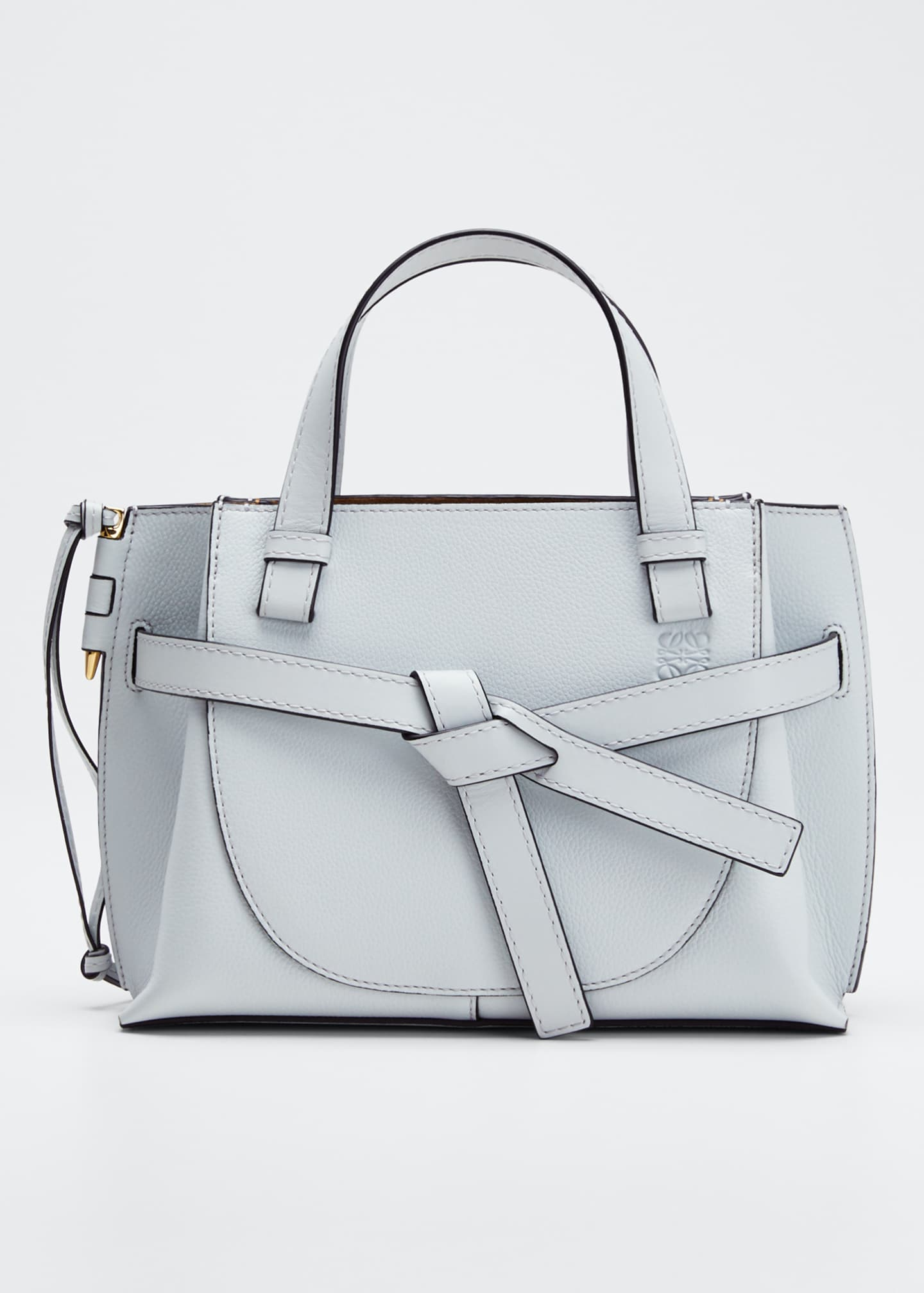 Loewe Gate Top-Handle Soft Leather Mini Tote Bag