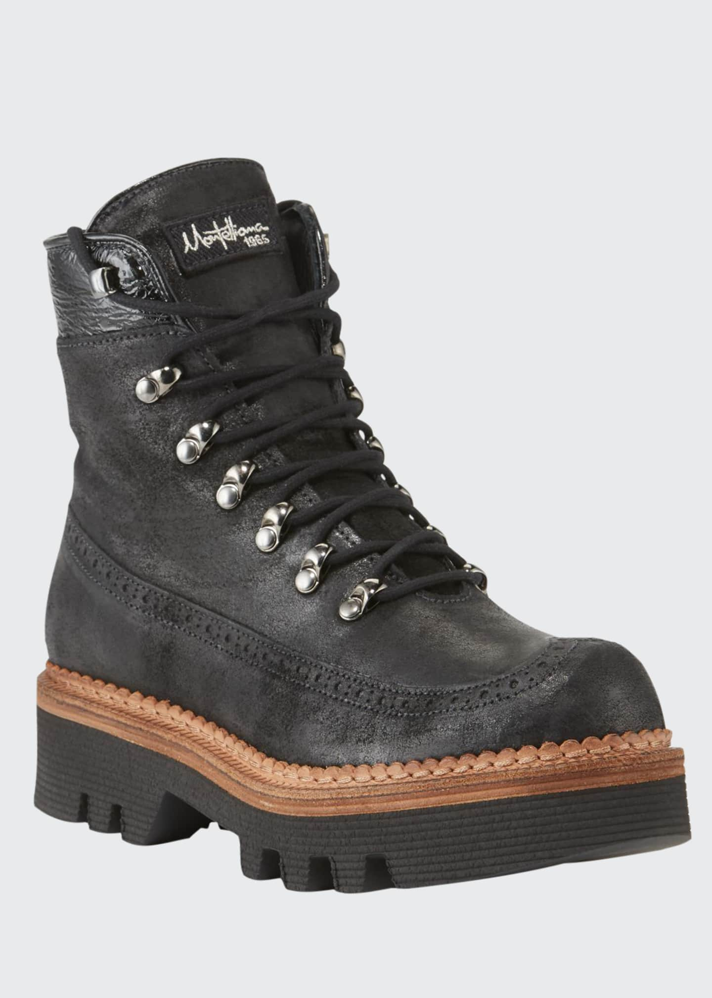 Montelliana 1965 Rondine Leather Lace-Up Boots