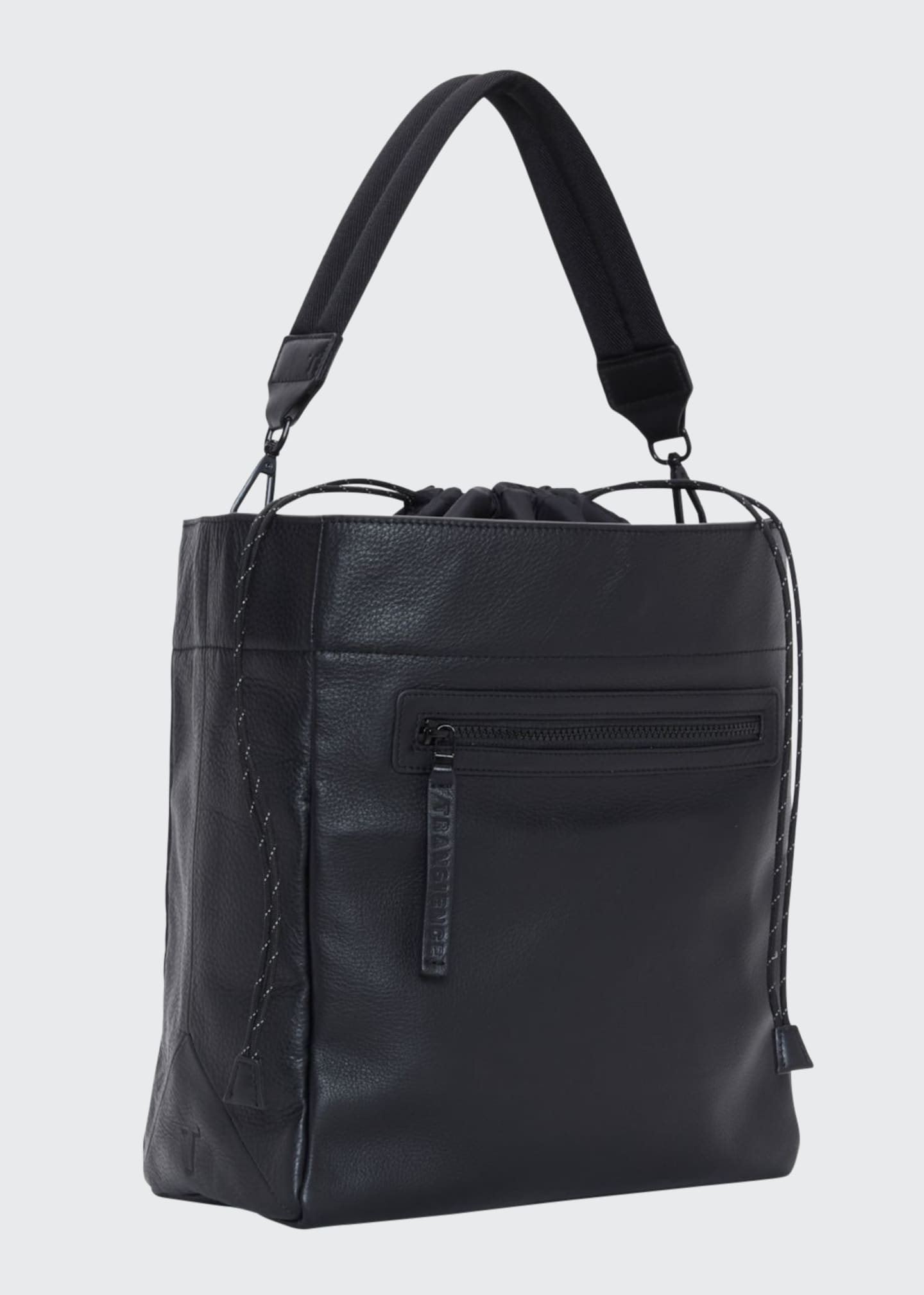 Image 1 of 5: Swing Leather Drawstring Bucket Bag