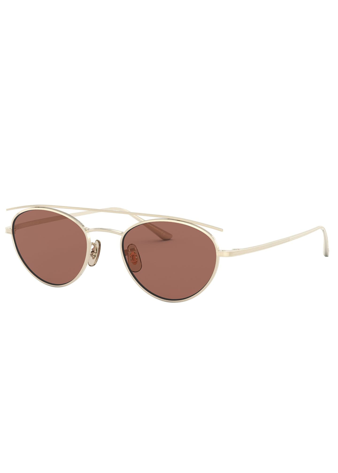 Image 1 of 2: Hightree Titanium Oval Sunglasses