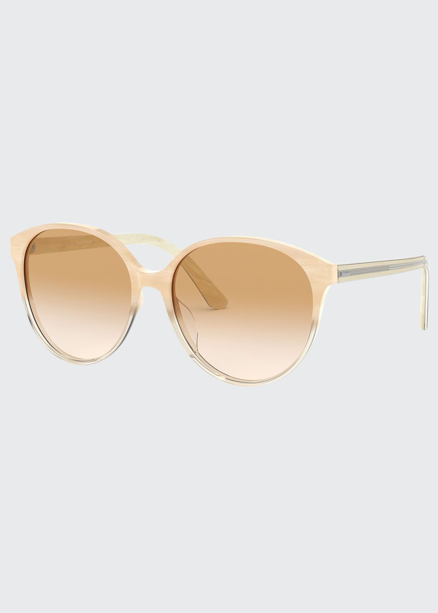 Image 1 of 2: Brooktree Oval Acetate Sunglasses