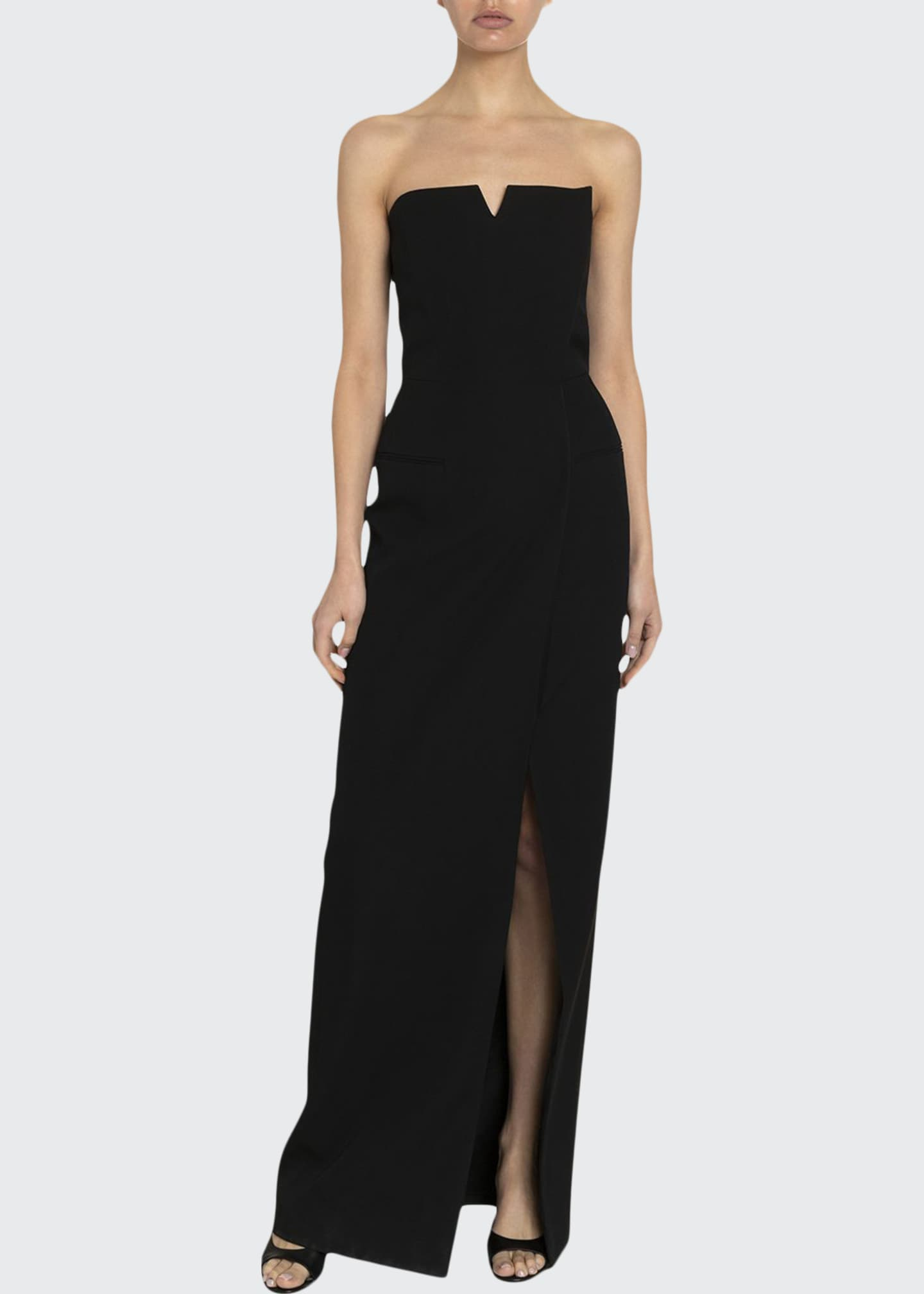 Givenchy Graine de Poudre Strapless Bustier Fitted Dress