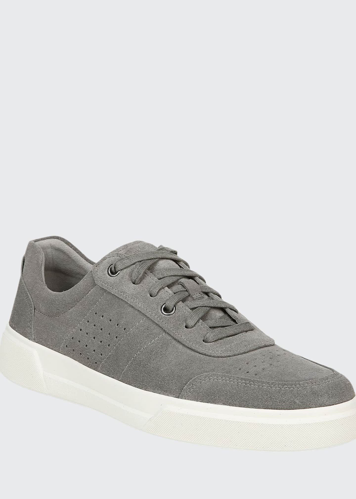 Image 1 of 5: Men's Barnett Perforated Suede Low-Top Sneakers
