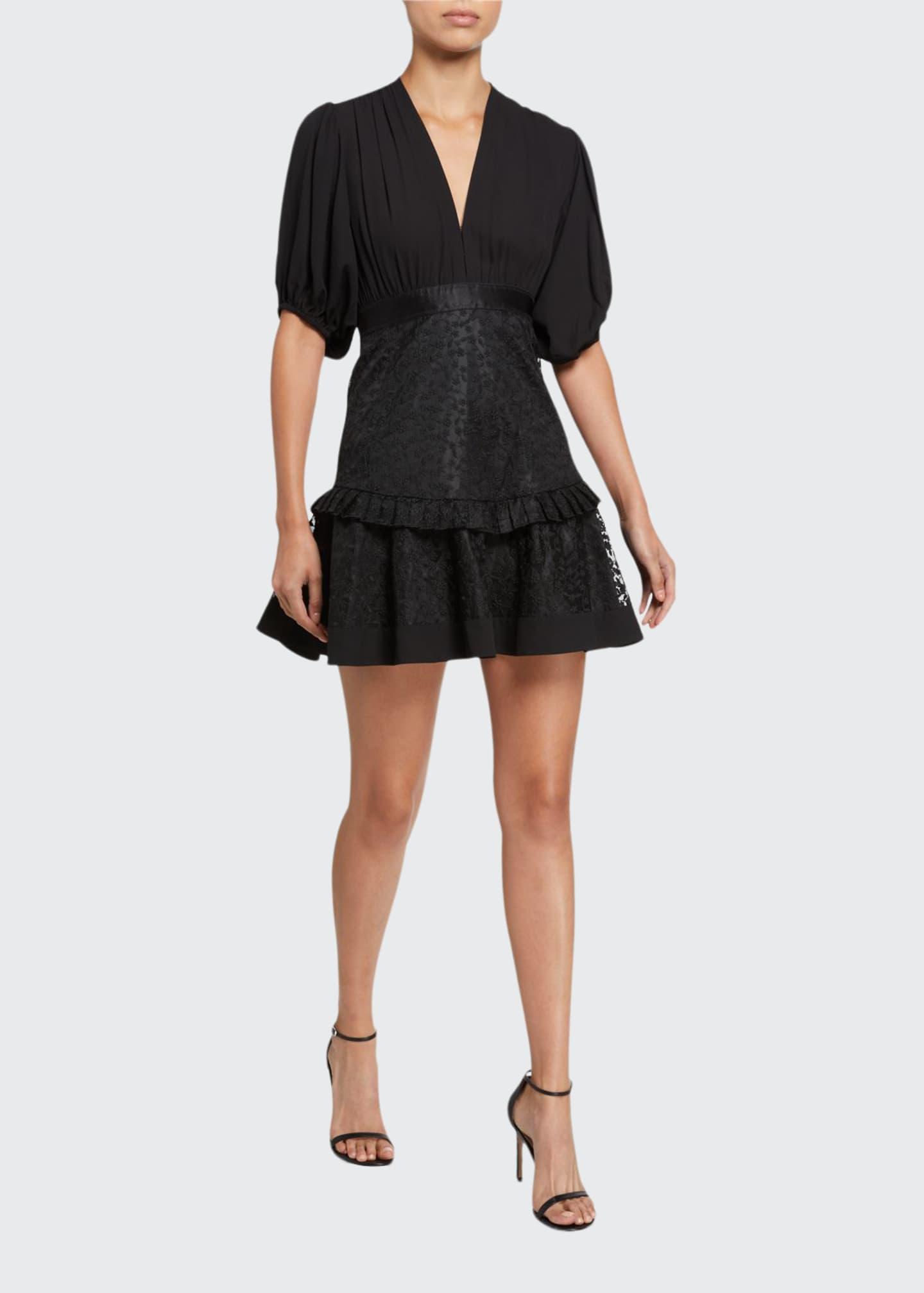 Alexis Estella Short-Sleeve Flounce Dress