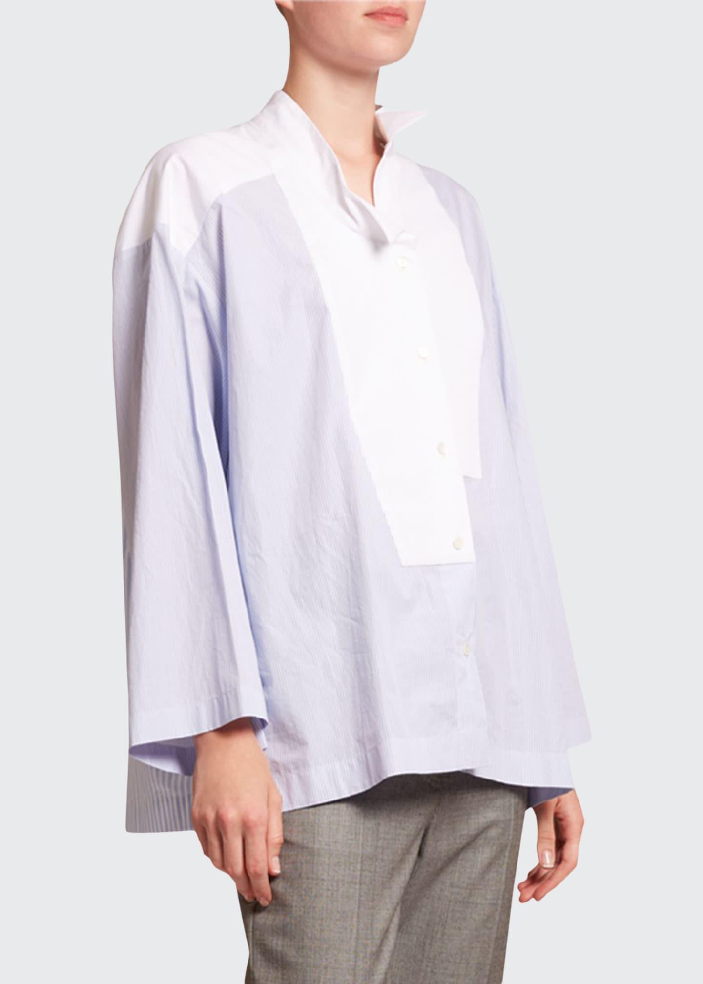 Loewe Striped Oversized Long-Sleeve Shirt